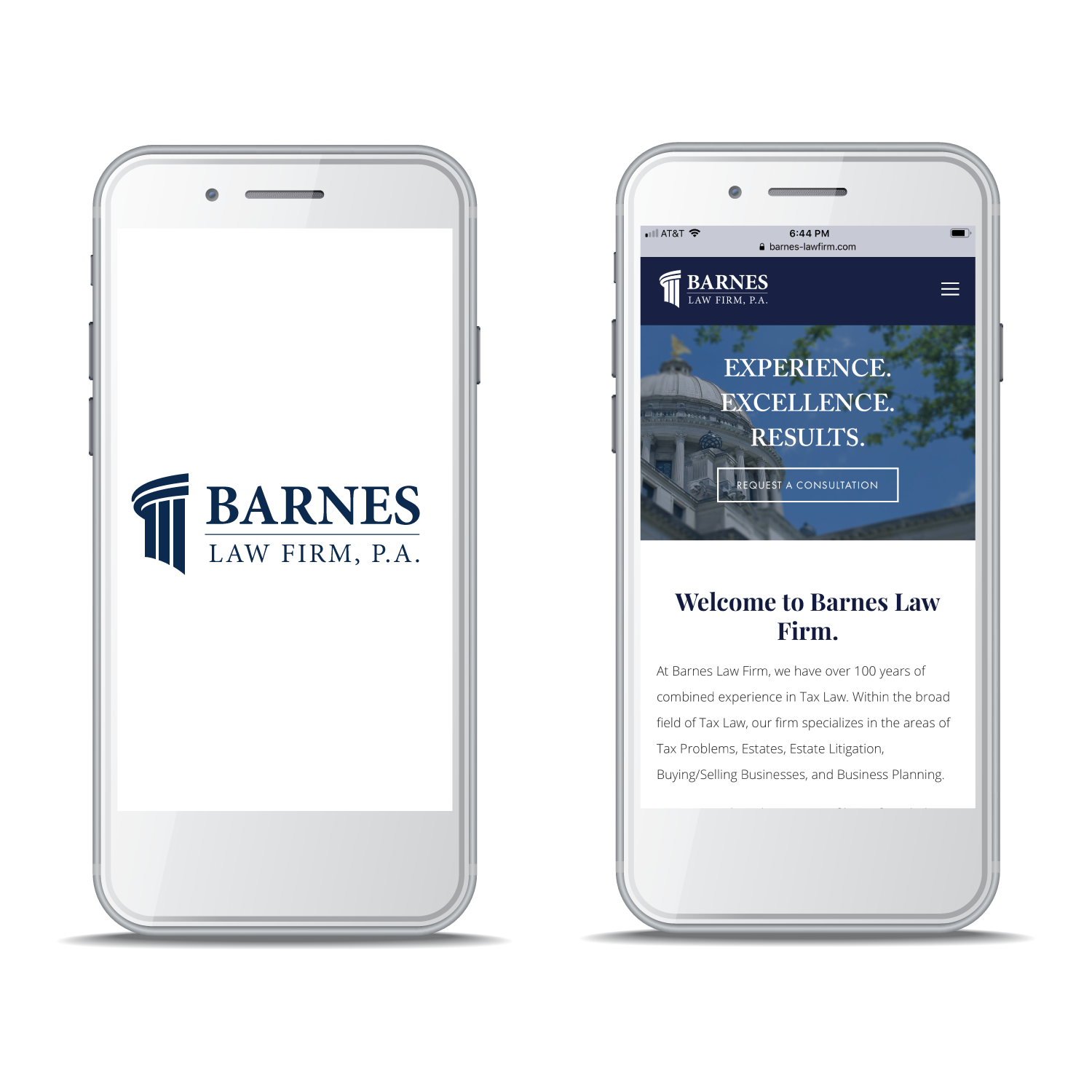 Barnes Law Firm, P.A. - Branding, Logo Design, Mobile Website Design and Development, Search Engine Optimization (SEO)