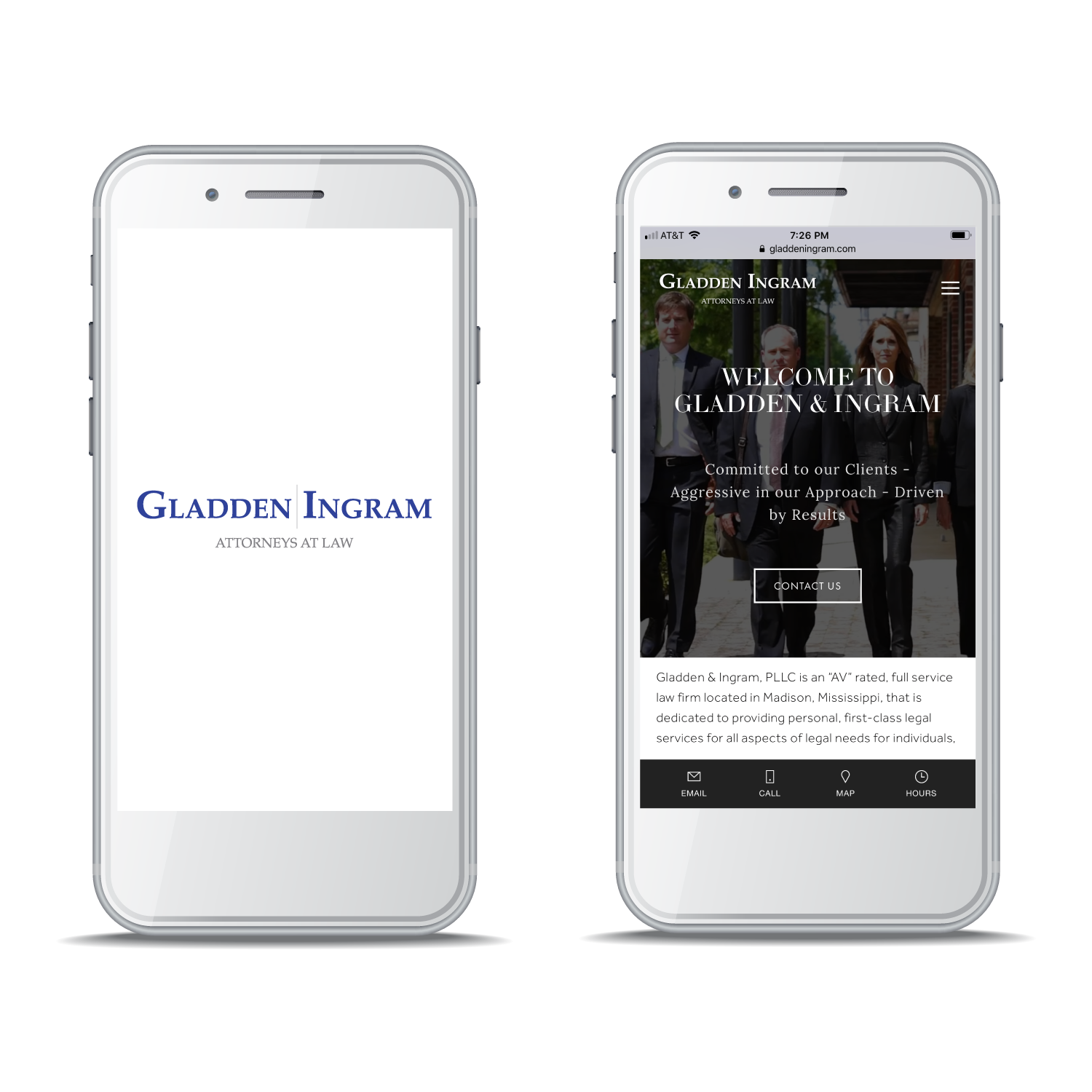 Gladden & Ingram, PLLC - Mobile Website Design and Development, Corporate Photography, Video Production, Content Management Training.