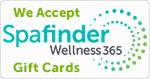 We accept Spafinder Gift cards.