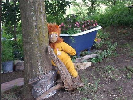 Theme decoration large stuffed lion