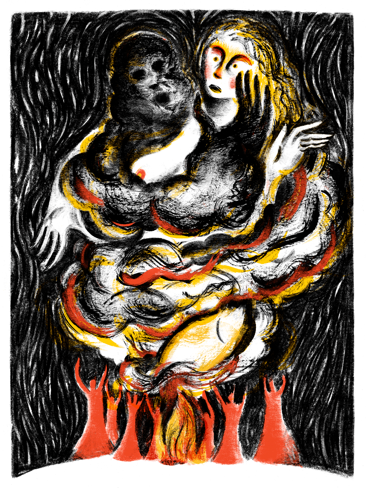 Light Grey Art Lab - Burn the Witch