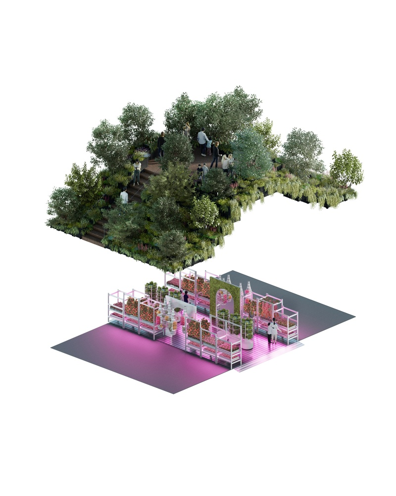 IKEA and Tom Dixon's collaboration on an urban farming project. Image Credit: Arch Daily