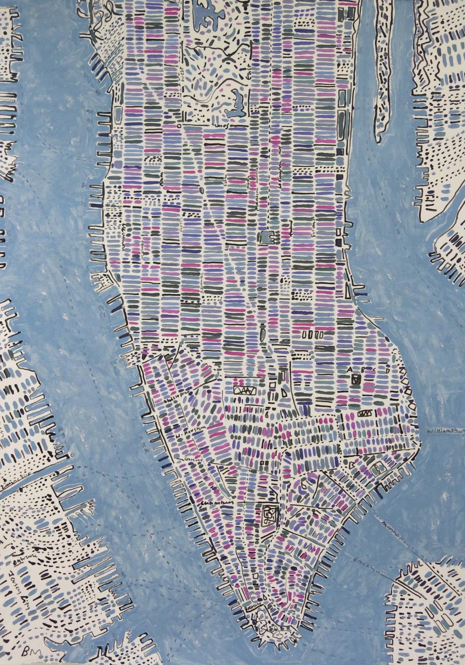BARBARA MACFARLANE | Pink, Magenta, and Violet Manhattan | 2018