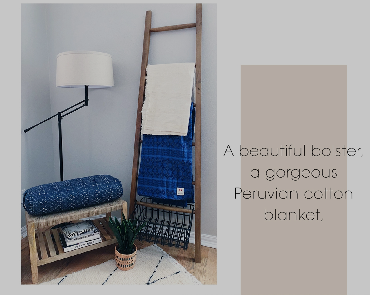 Carve out a Place for Contemplation - Add in elements like a bench, blanket, and bolster to create a meditation space.