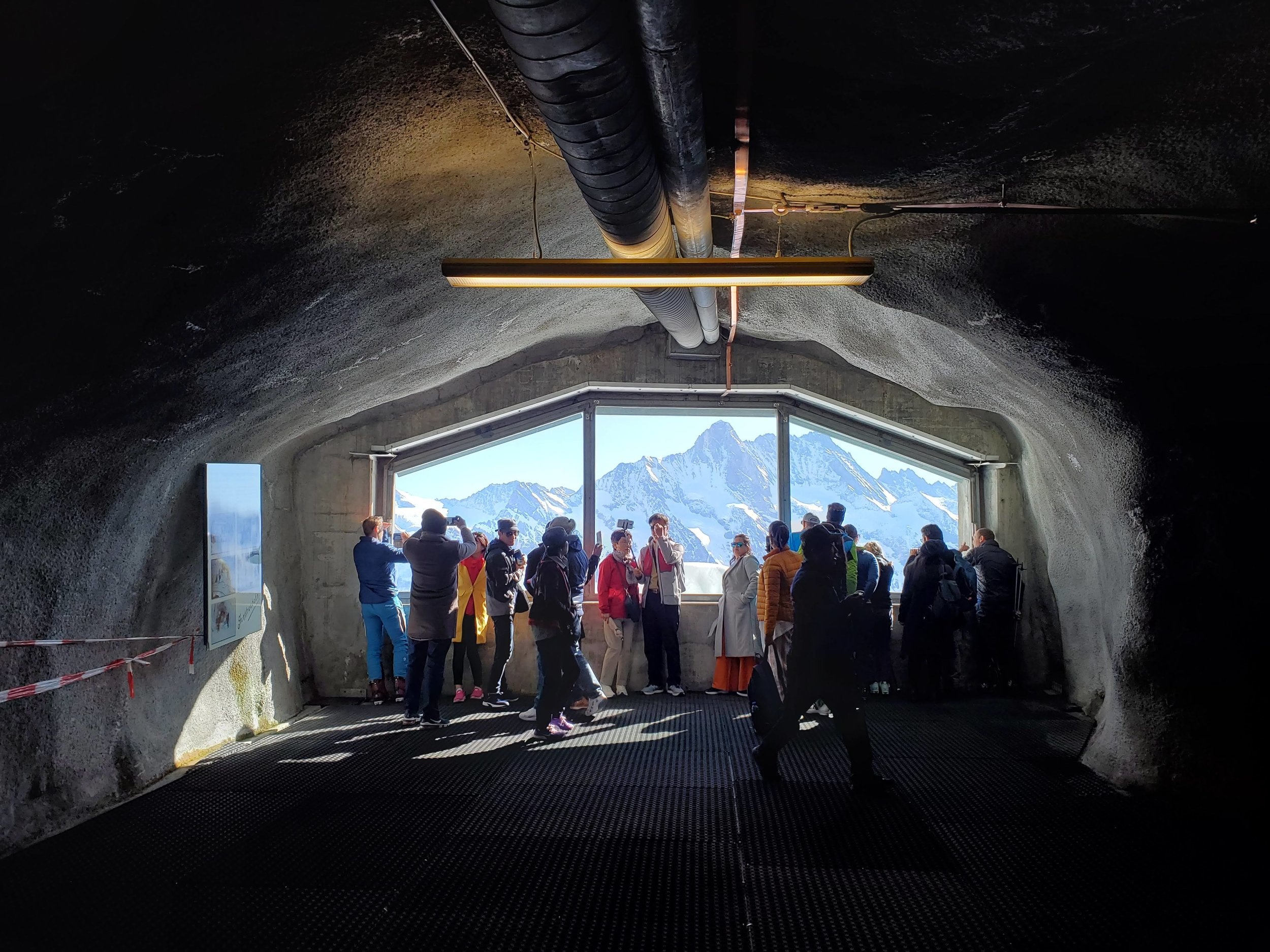 Half point stop, these tunnels are located partway up the notorious Eiger Nordwand (north face) and have witnessed their fair share of mountaineering drama.