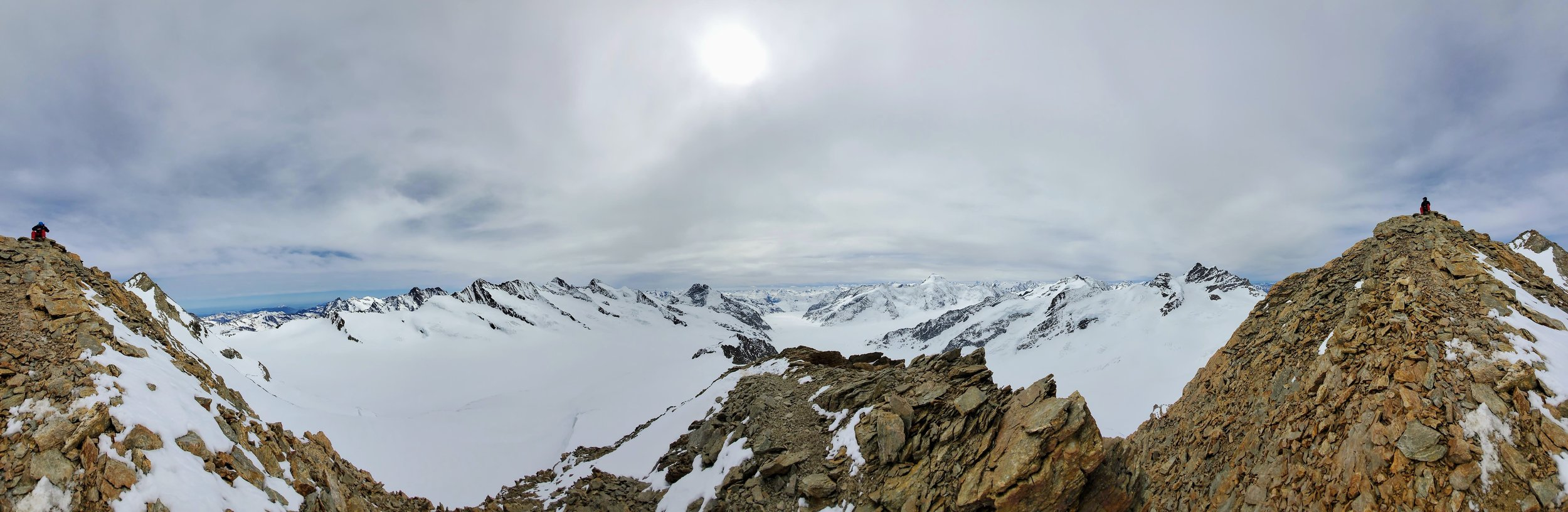 Panoramic shot from the South Summit of the Trugberg.