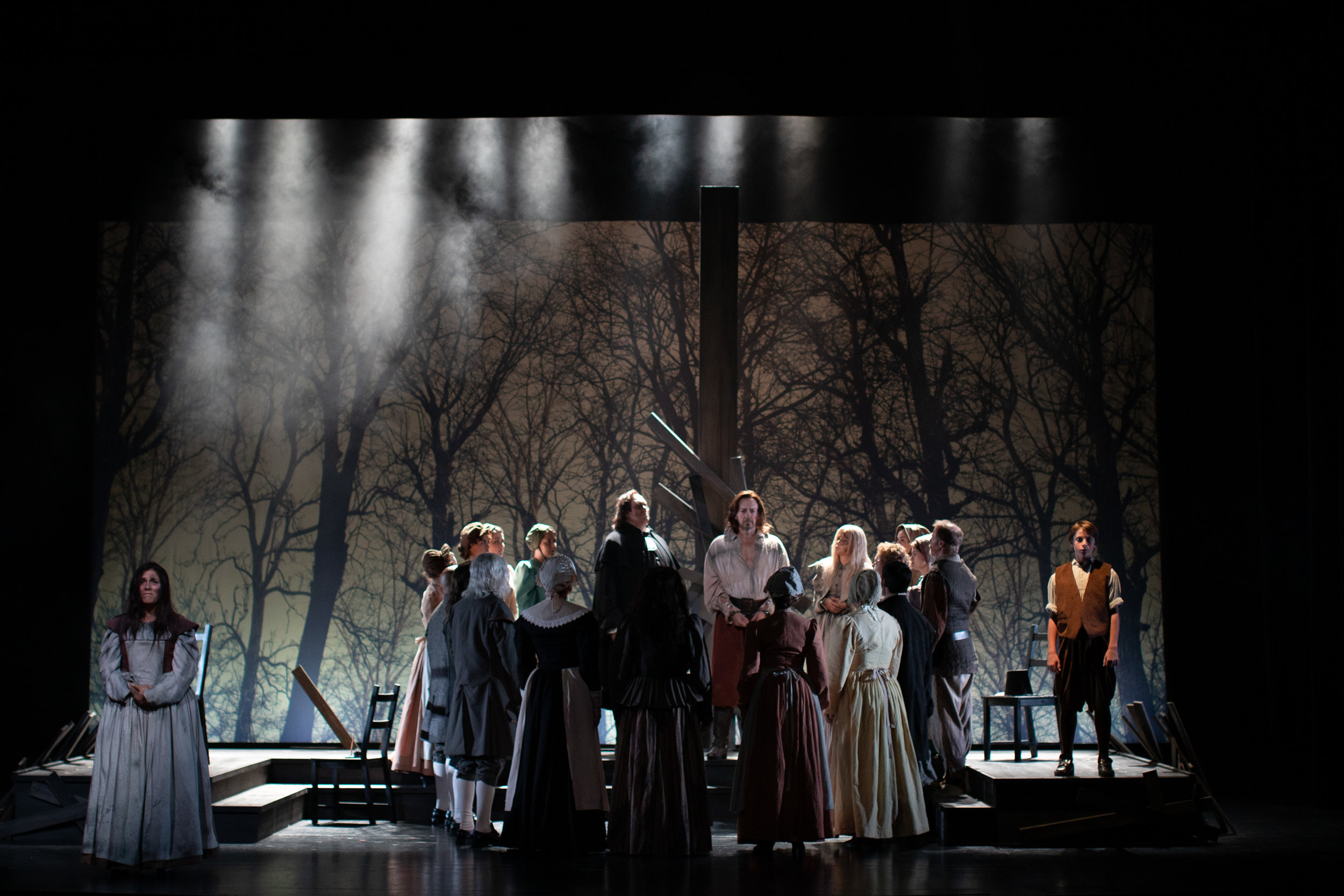 The Crucible | Opera Santa Barbara | 2019  Scenic Design by Steven C. Kemp