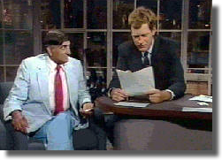 On David Letterman Show