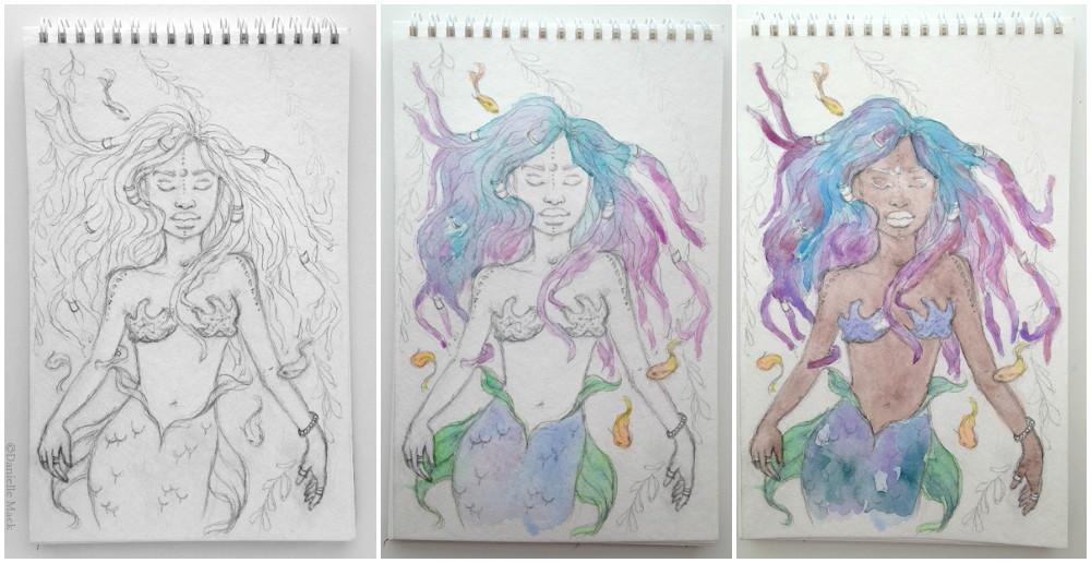 Day 1: Prompt - Deep Sea Mermaid