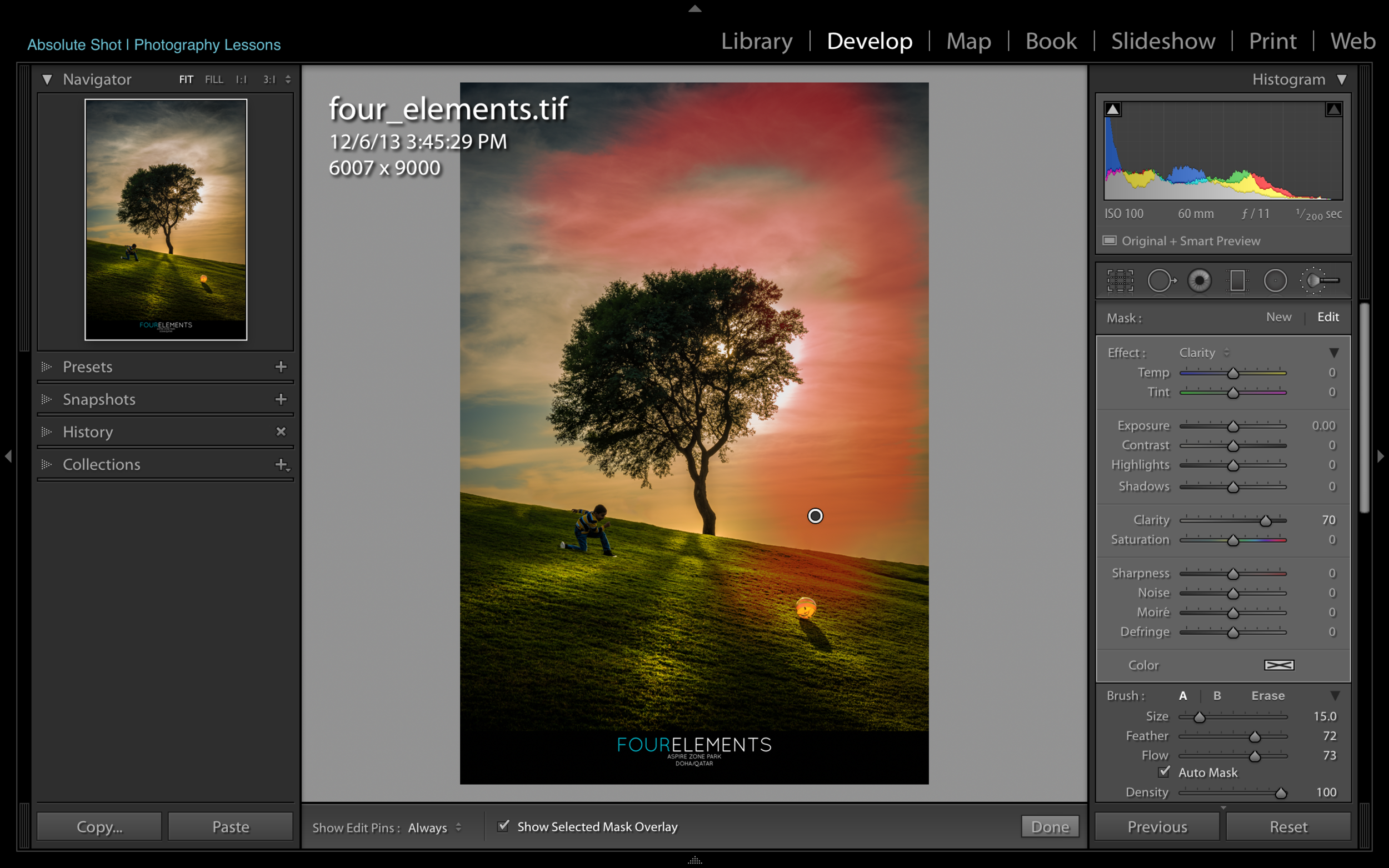 Localized Adjustments - This part goes over the targeted adjustment tools within LR and deals with the aesthetics of your photographs. Details that will make or break your image!
