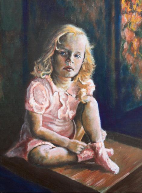Meisje in rose (prijs: € 450)