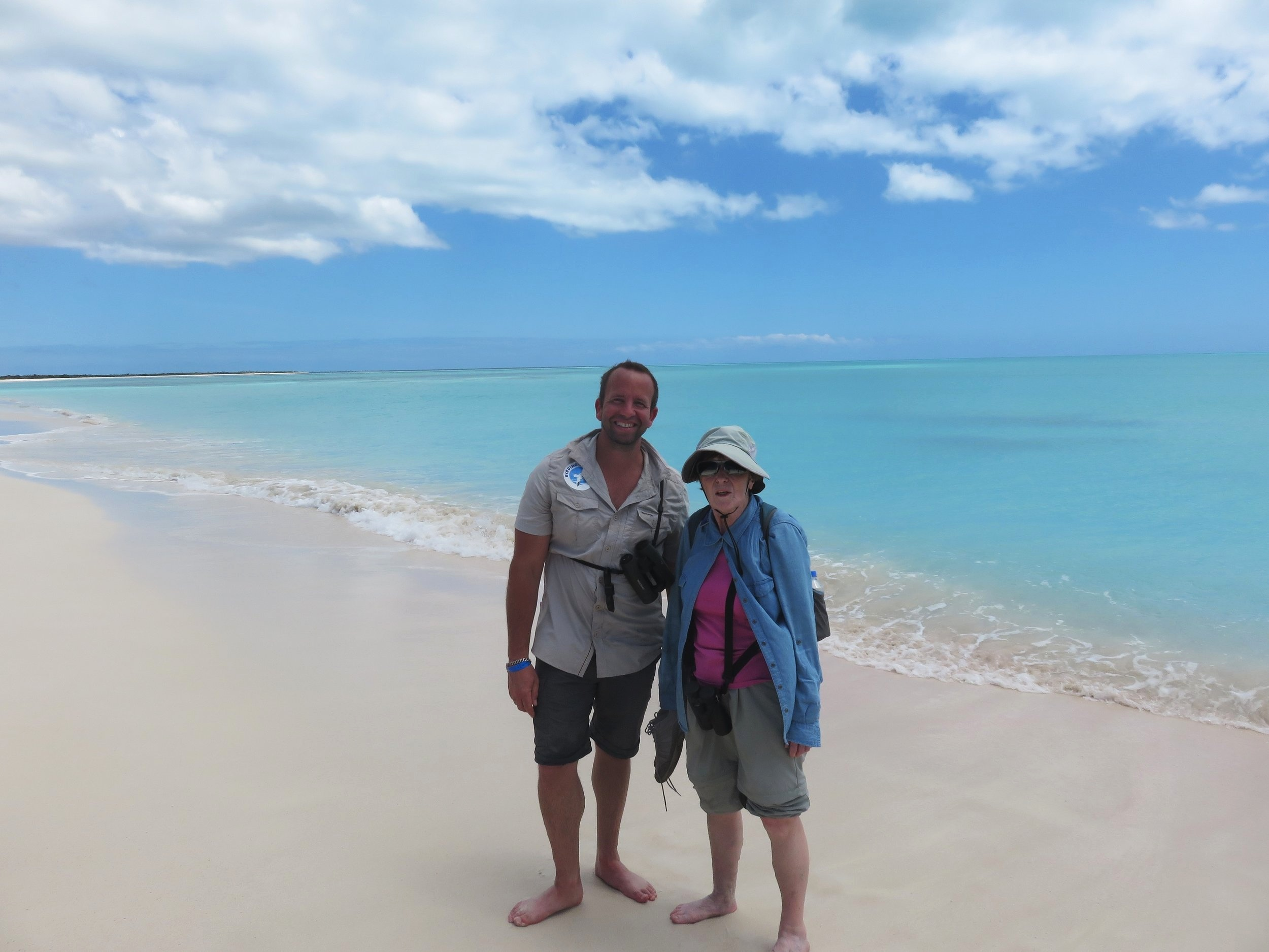 Gunda and Ryan (the Bajan Birder) birding in paradise in April 2019