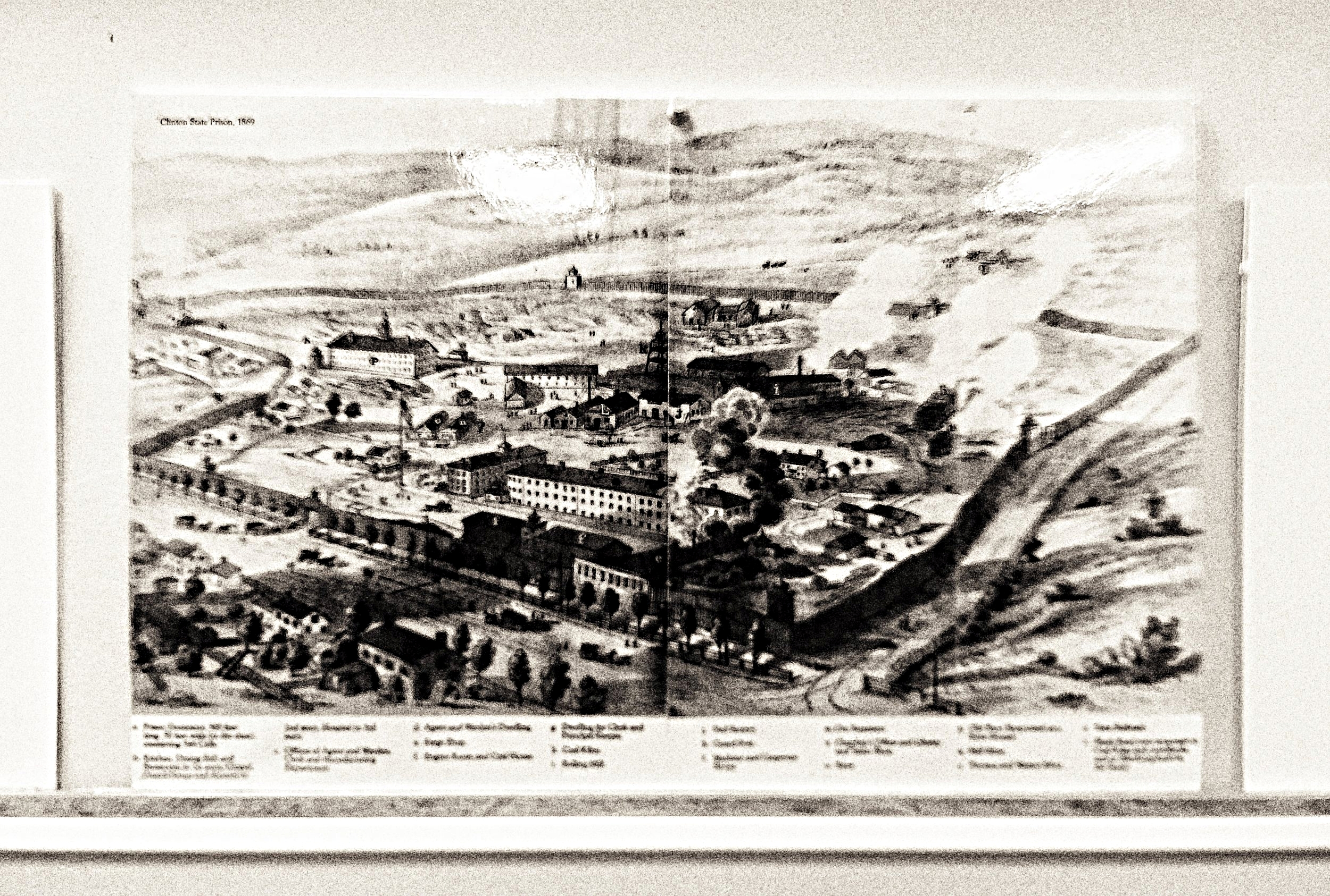 A 20th Century map of what was then called Clinton Prison.  (Museum at the Dannemora Free Library)
