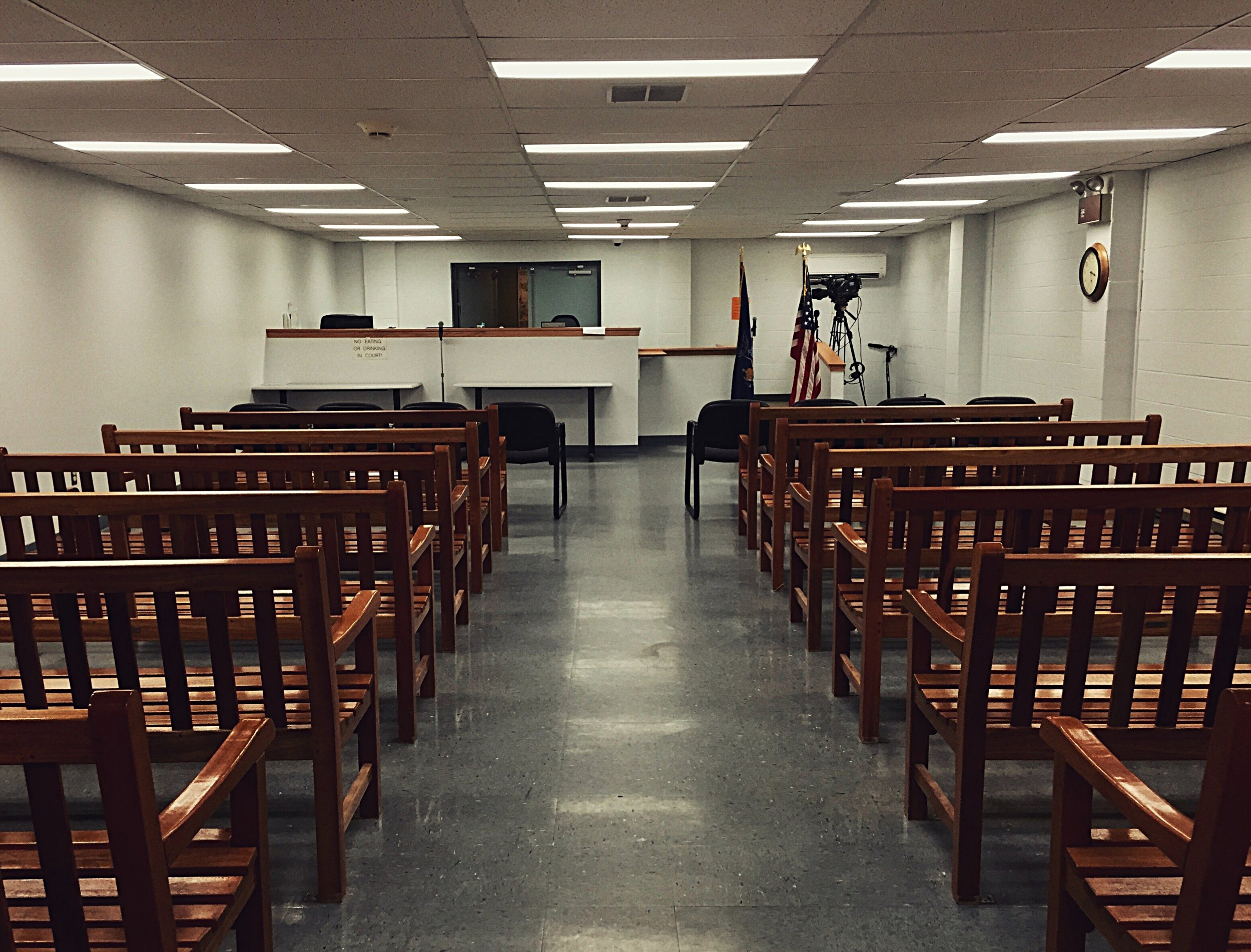 Clinton County Court in Plattsburgh, N.Y.hours before Clinton Corrections Officer Eugene Palmer is charged with promoting prison contraband, official misconduct, and tampering with evidence after trying to destroy paintings from Richard Matt in exchange for tools. (Chelsia Rose Marcius/June 25, 2015)