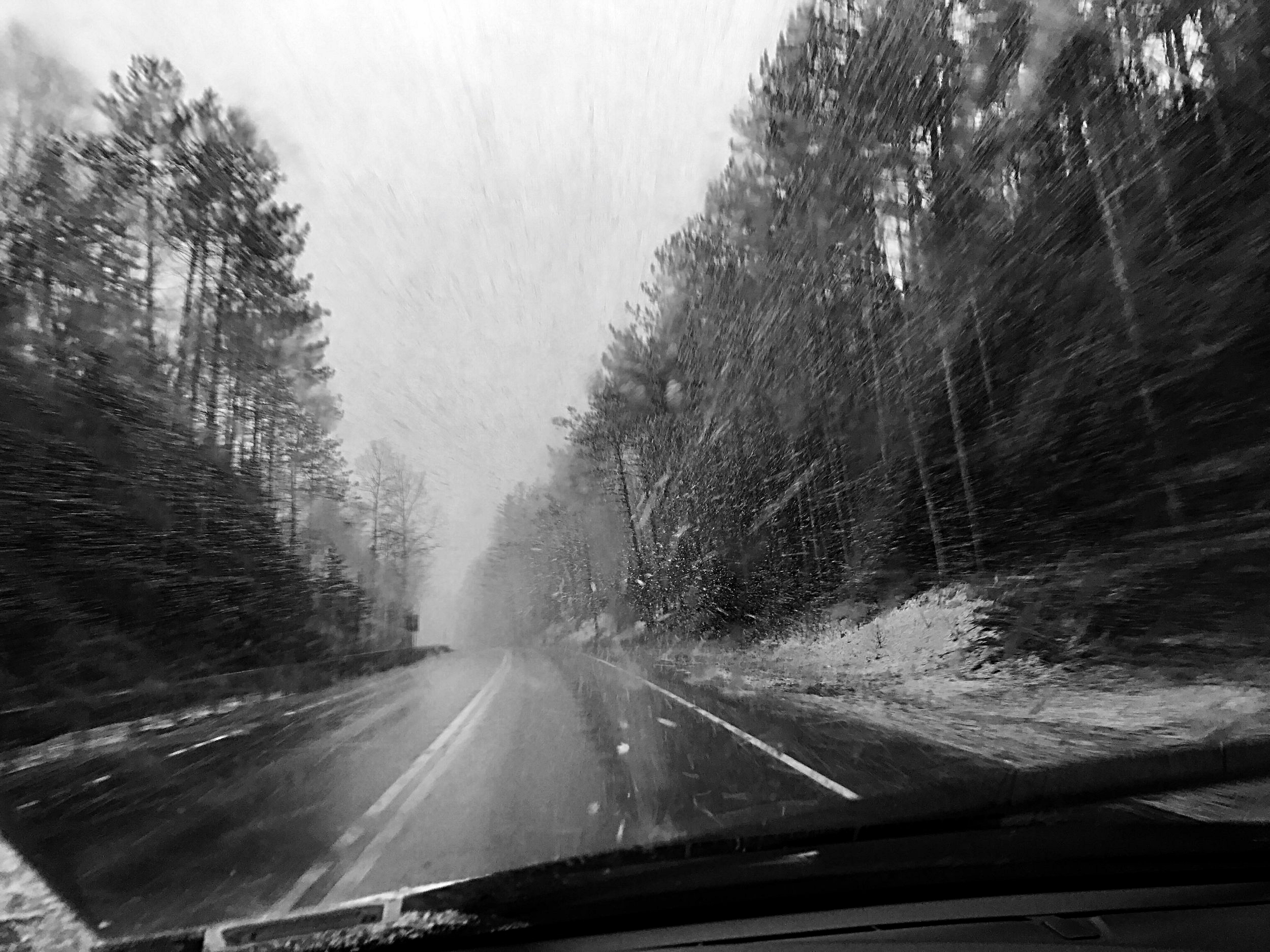 En route to Five Points Correctional Facility — one of Chelsia's many trips to talk with inmate, David Sweat. (Chelsia Rose Marcius/January 2017)
