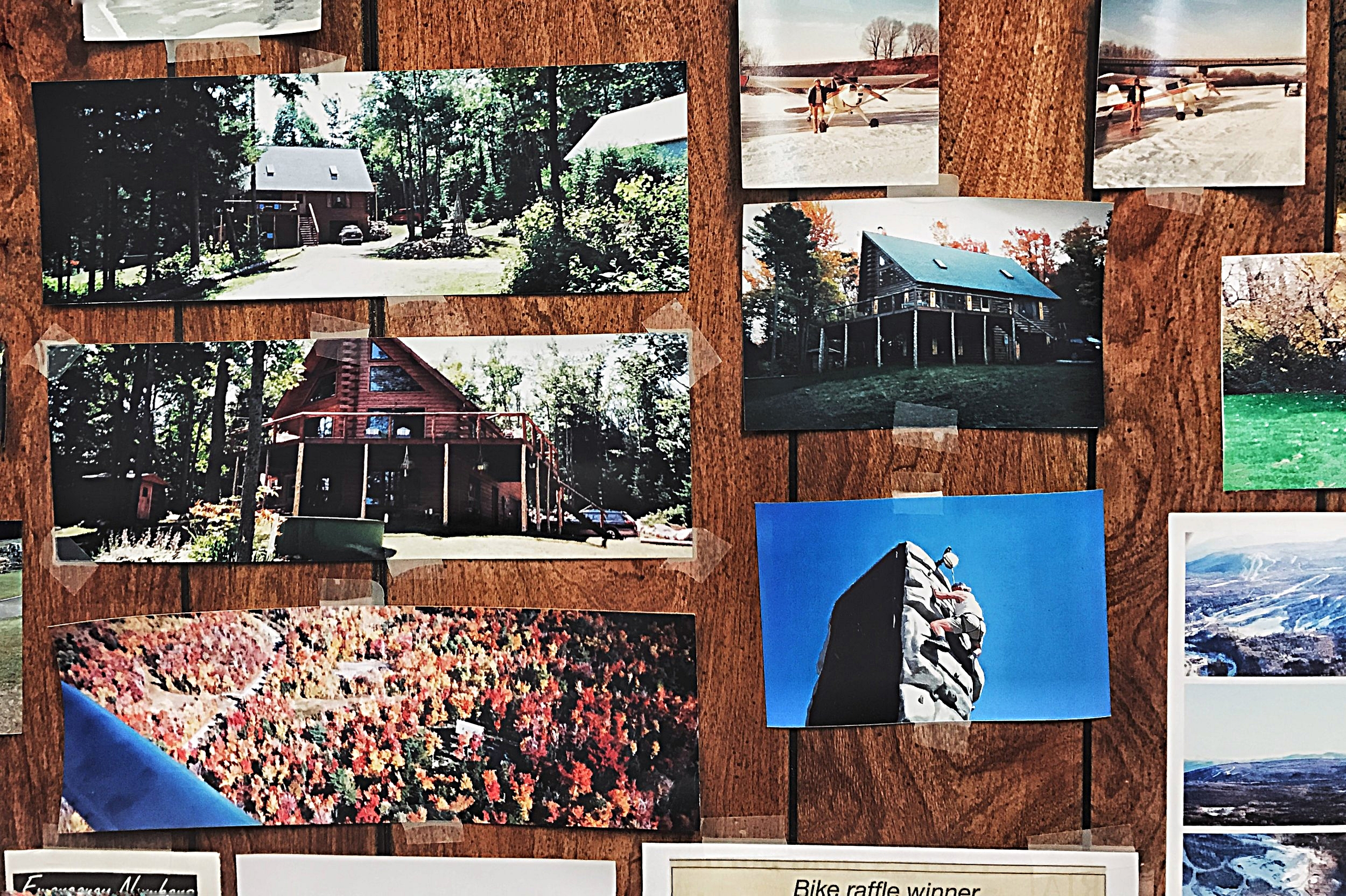 Pictures of hardware salesman Franz Fredericks's home on Titus Mountain. Fredericks's house was surrounded by state troopers during the manhunt for Richard Matt and David Sweat.  (Chelsia Rose Marcius/March 9, 2017)