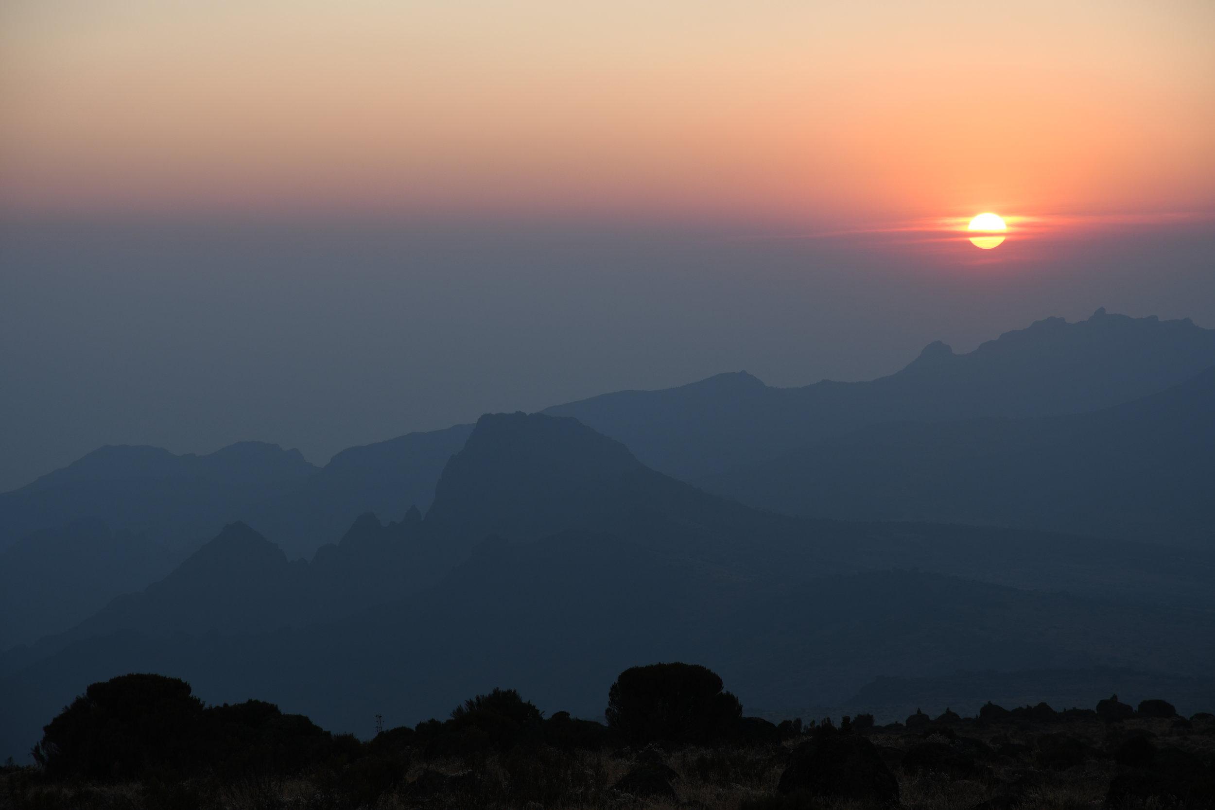 Day 3 / Sunset at Shira Camp