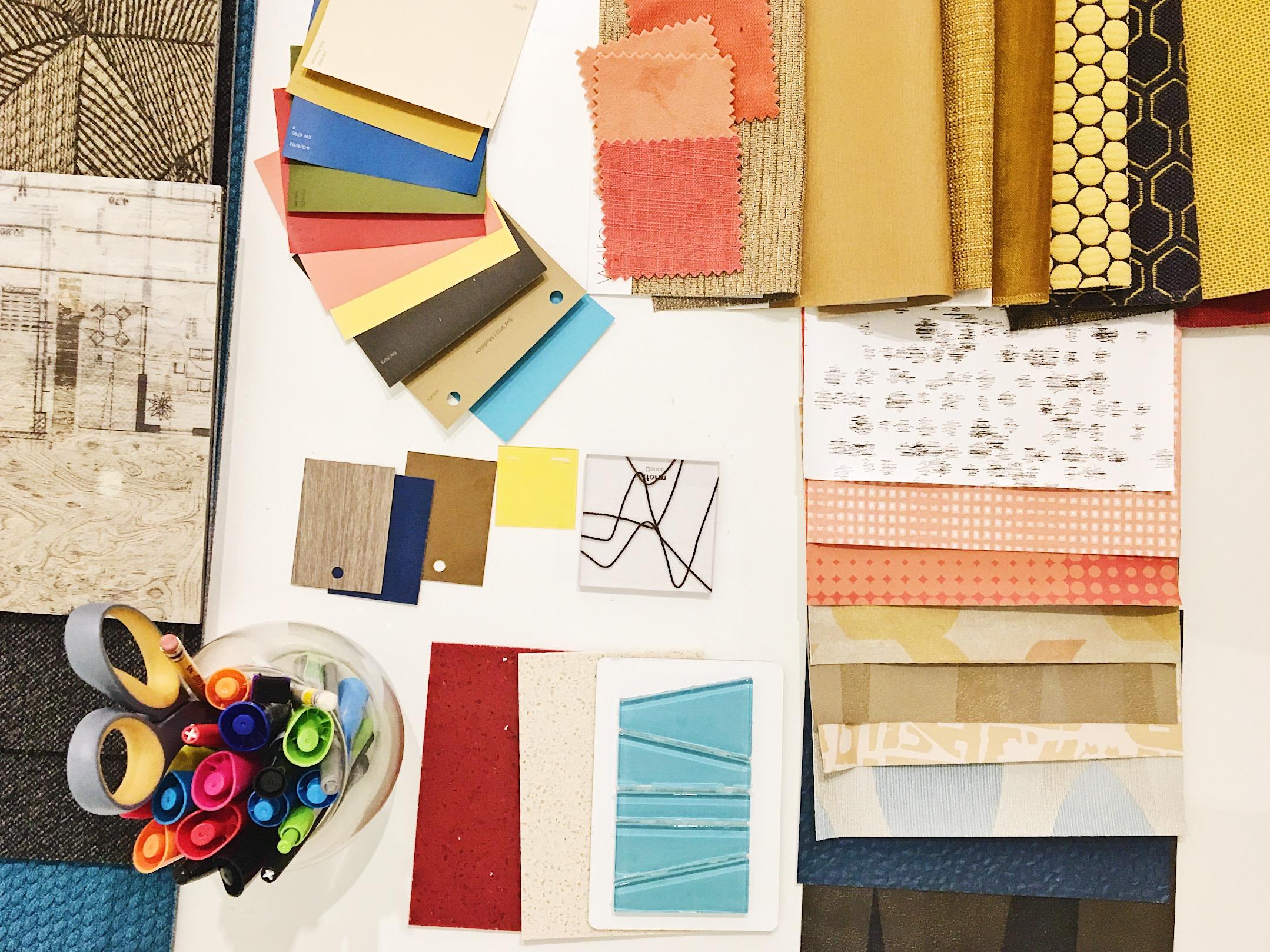 interior design finish selections paint wallpaper fabric