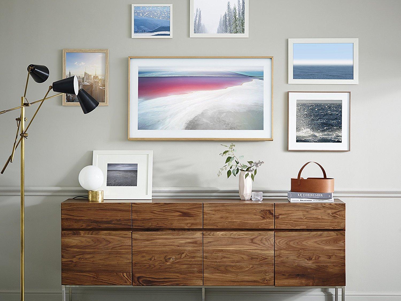 samsung frame tv as art in living room.jpg