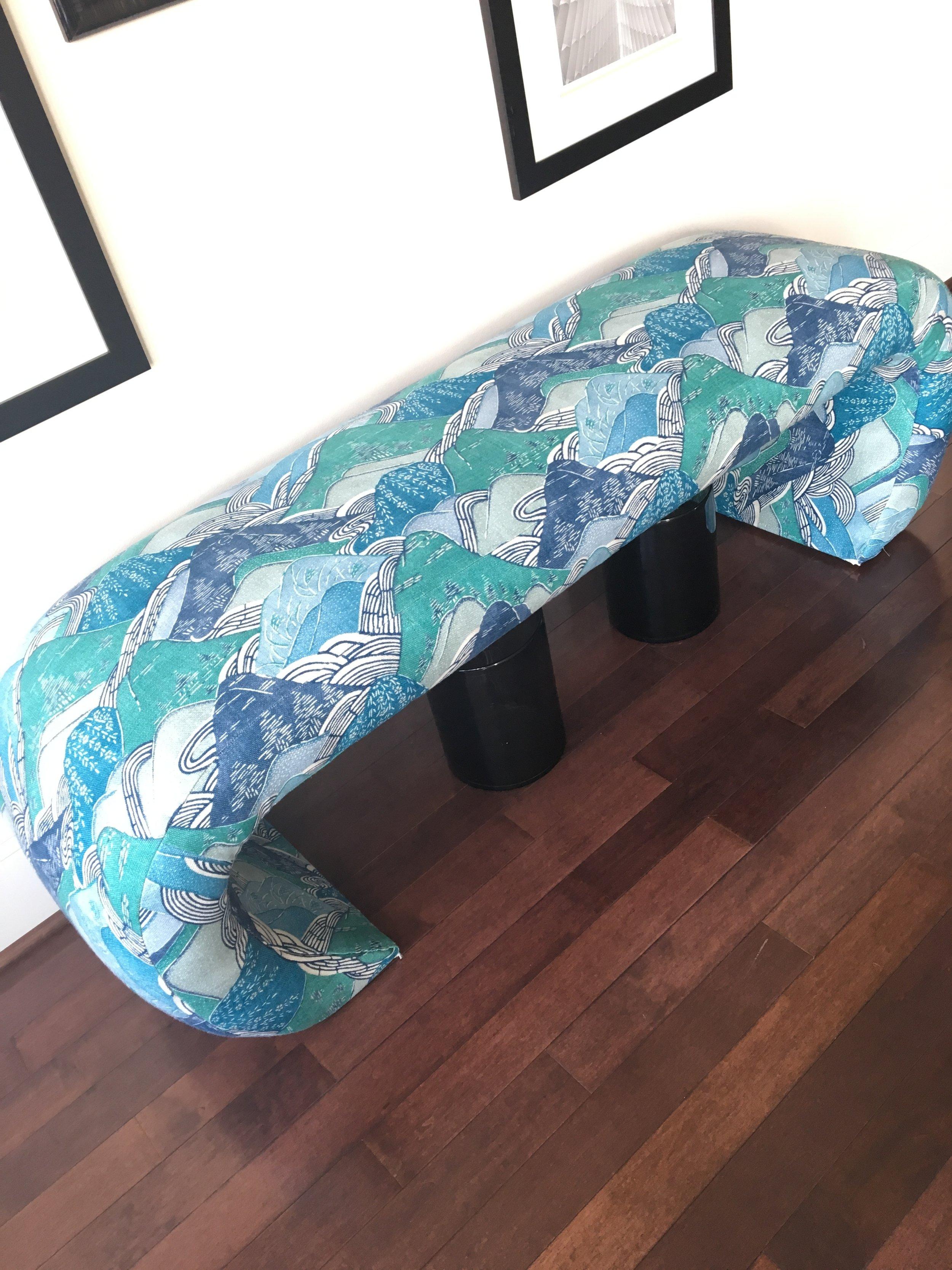 kelly wearstler fabric edo linen vintage bench.JPG