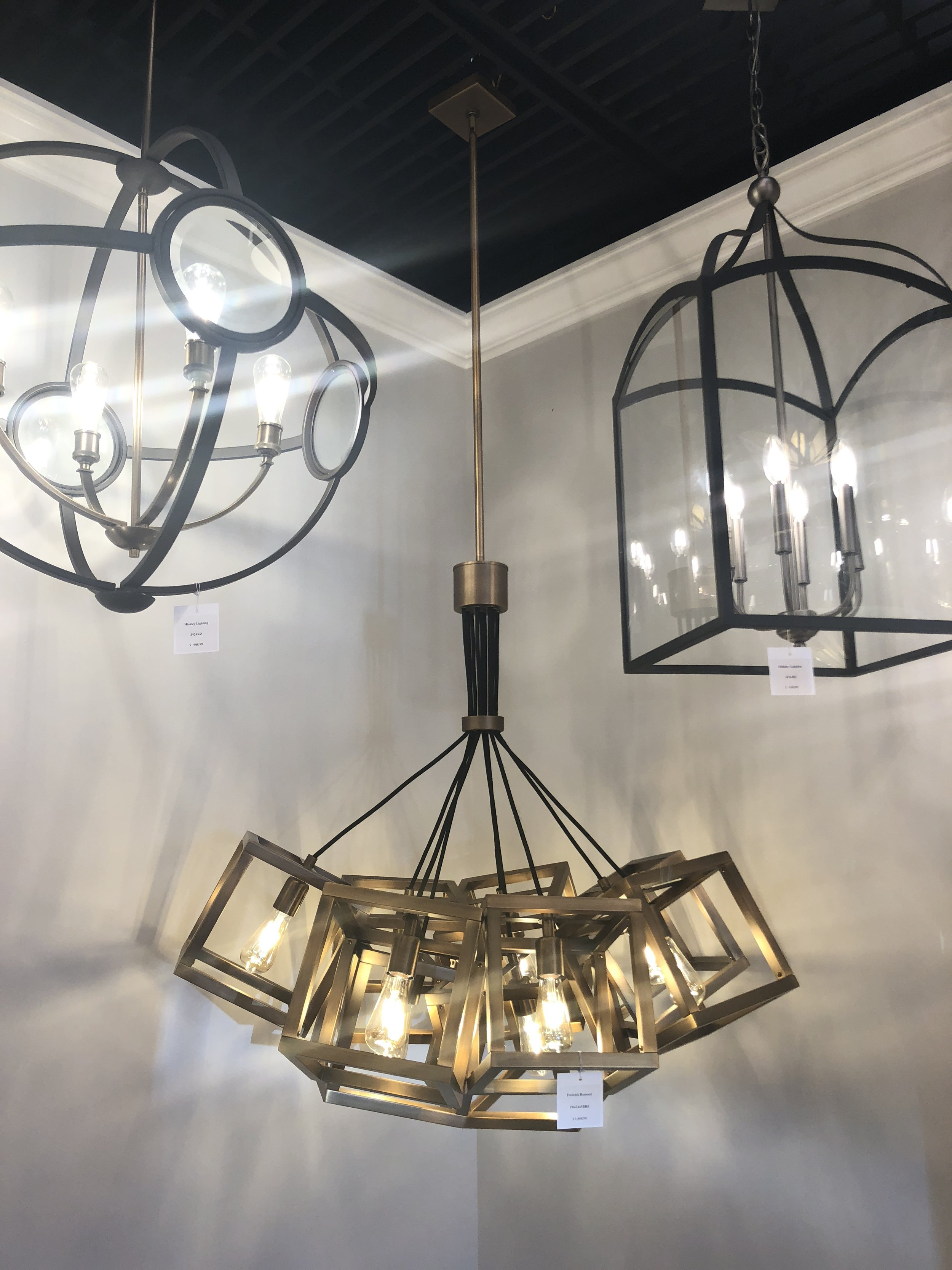 Some of my favorite finds at Carolina Lighting and Design.