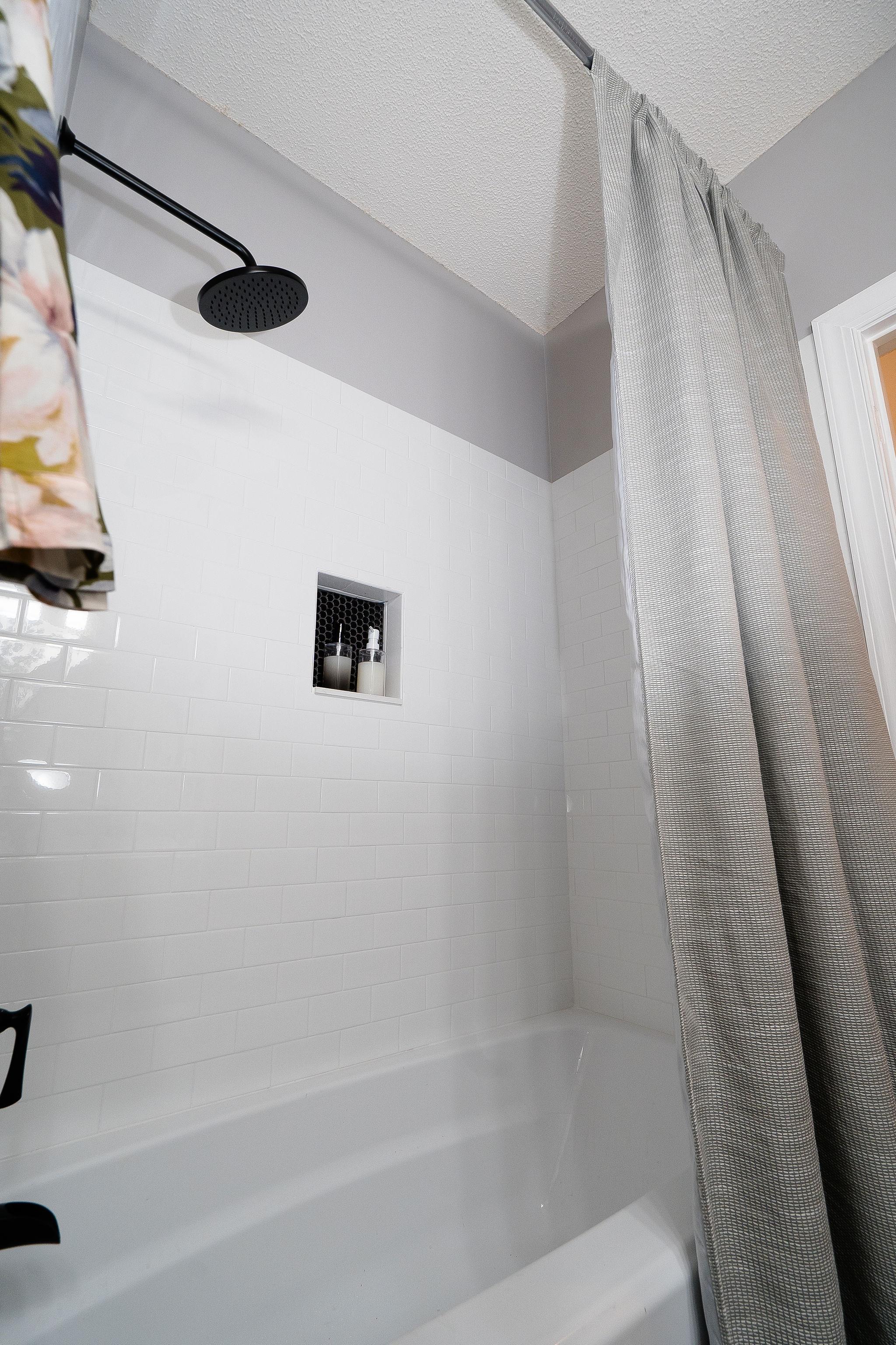 Niki McNeill Raleigh NC Interior Designer SingleBubblePop Design Studio Bathroom Renovation Remodel Refresh Pfister faucets4.jpg