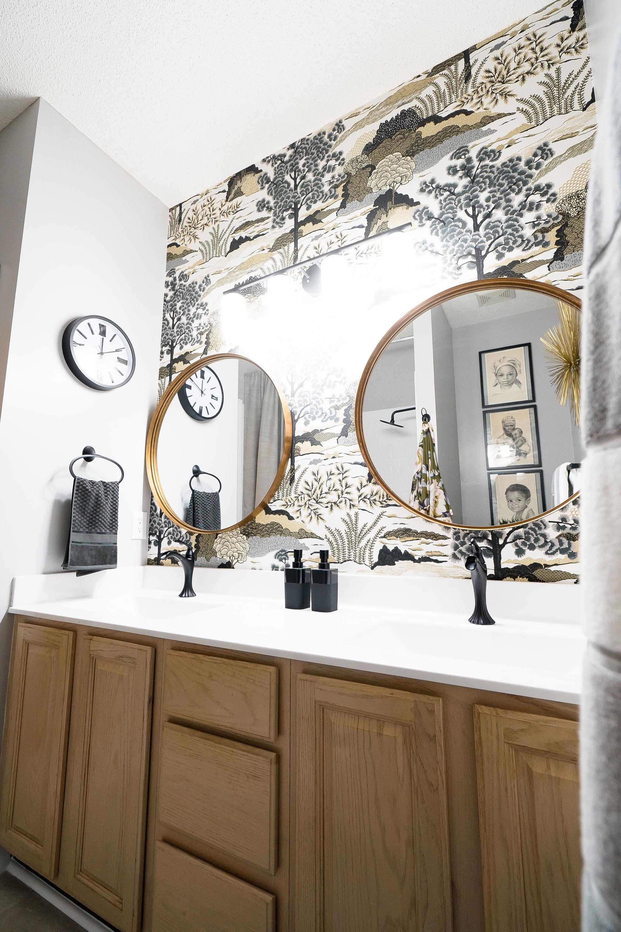 Niki McNeill Raleigh NC Interior Designer SingleBubblePop Design Studio Bathroom Renovation Remodel Refresh Pfister faucets3.jpg
