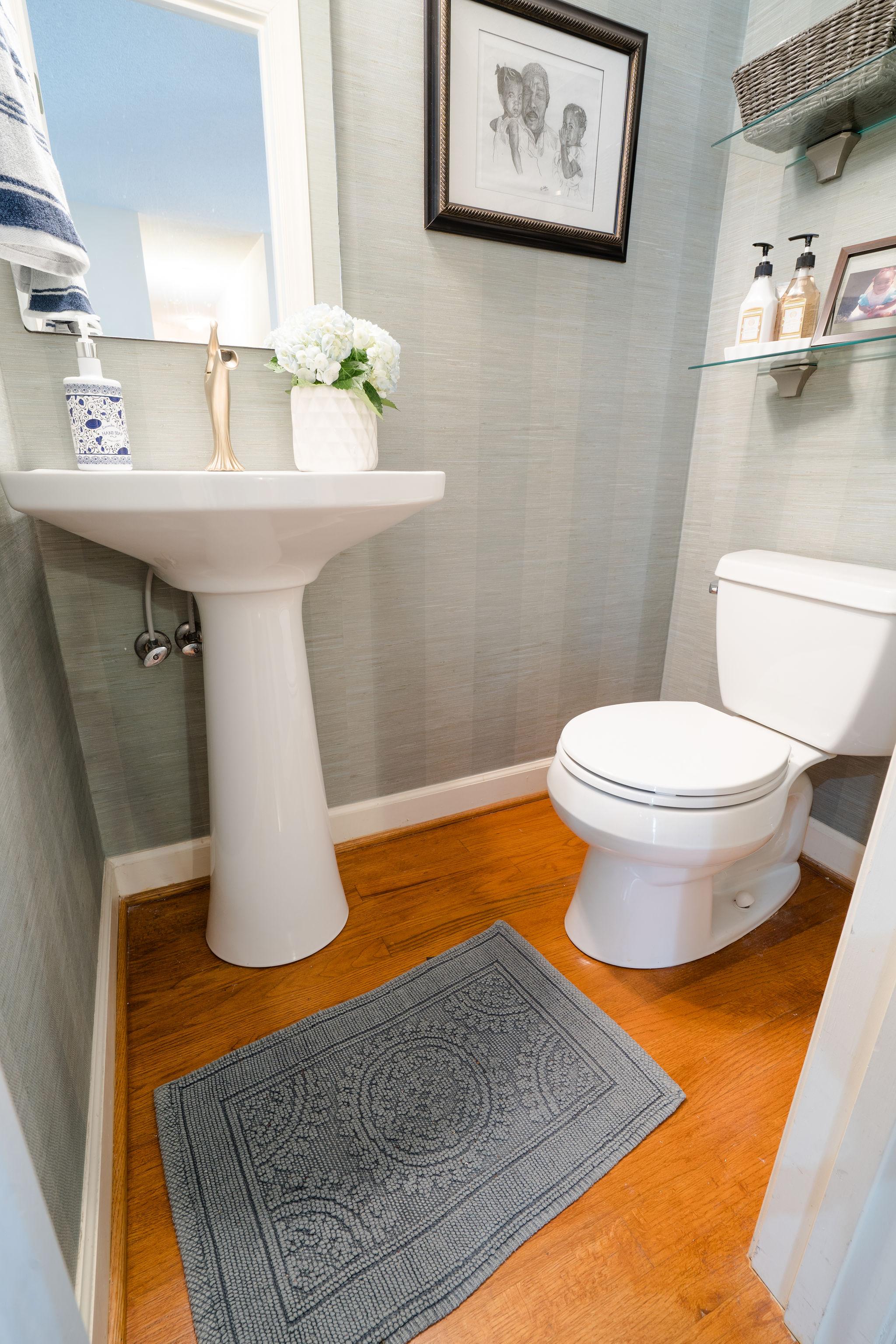 Niki McNeill Raleigh NC Interior Designer SingleBubblePop Design Studio Bathroom Renovation Remodel Refresh Pfister faucets7.jpg