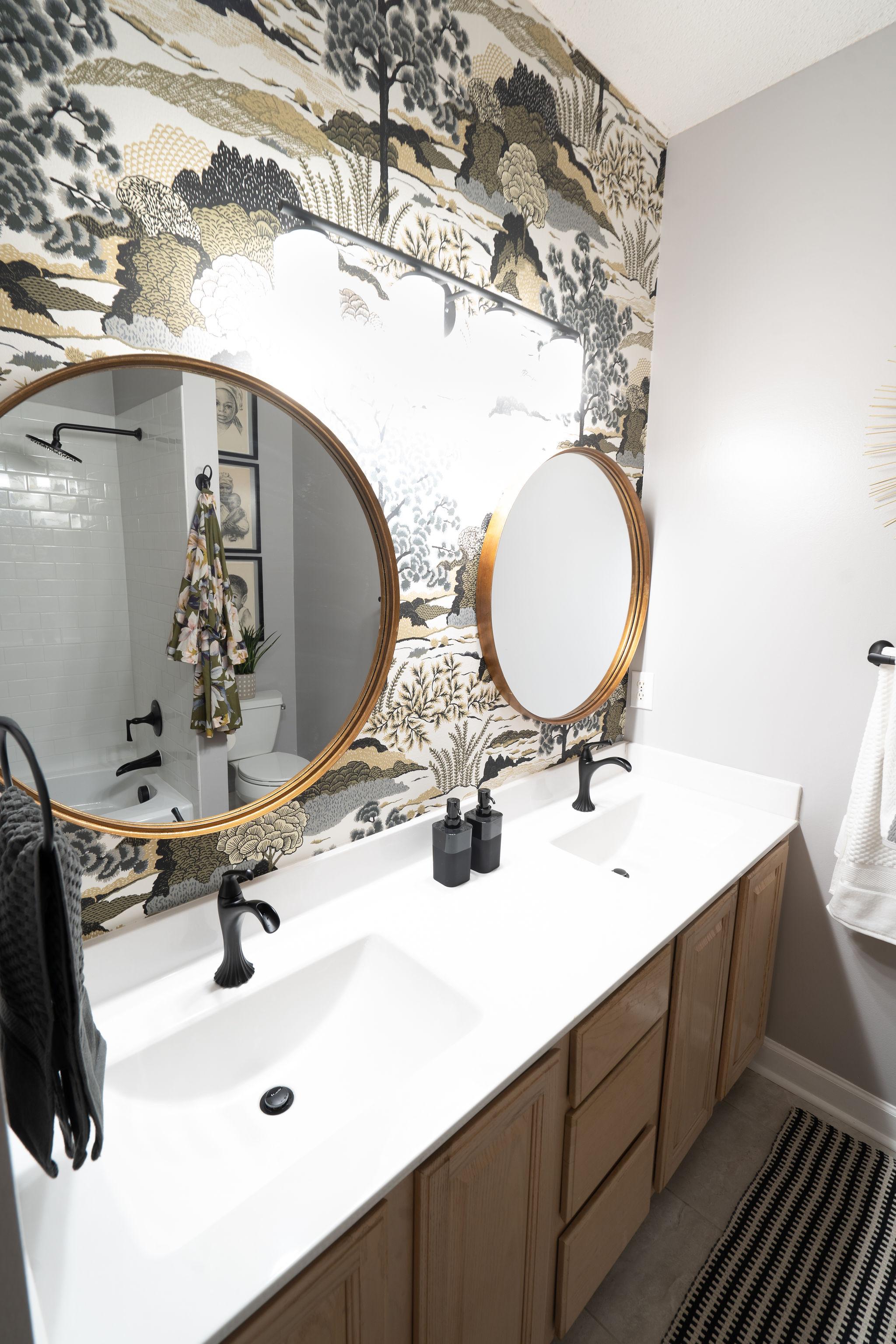 Niki McNeill Raleigh NC Interior Designer SingleBubblePop Design Studio Bathroom Renovation Remodel Refresh Pfister faucets13.jpg