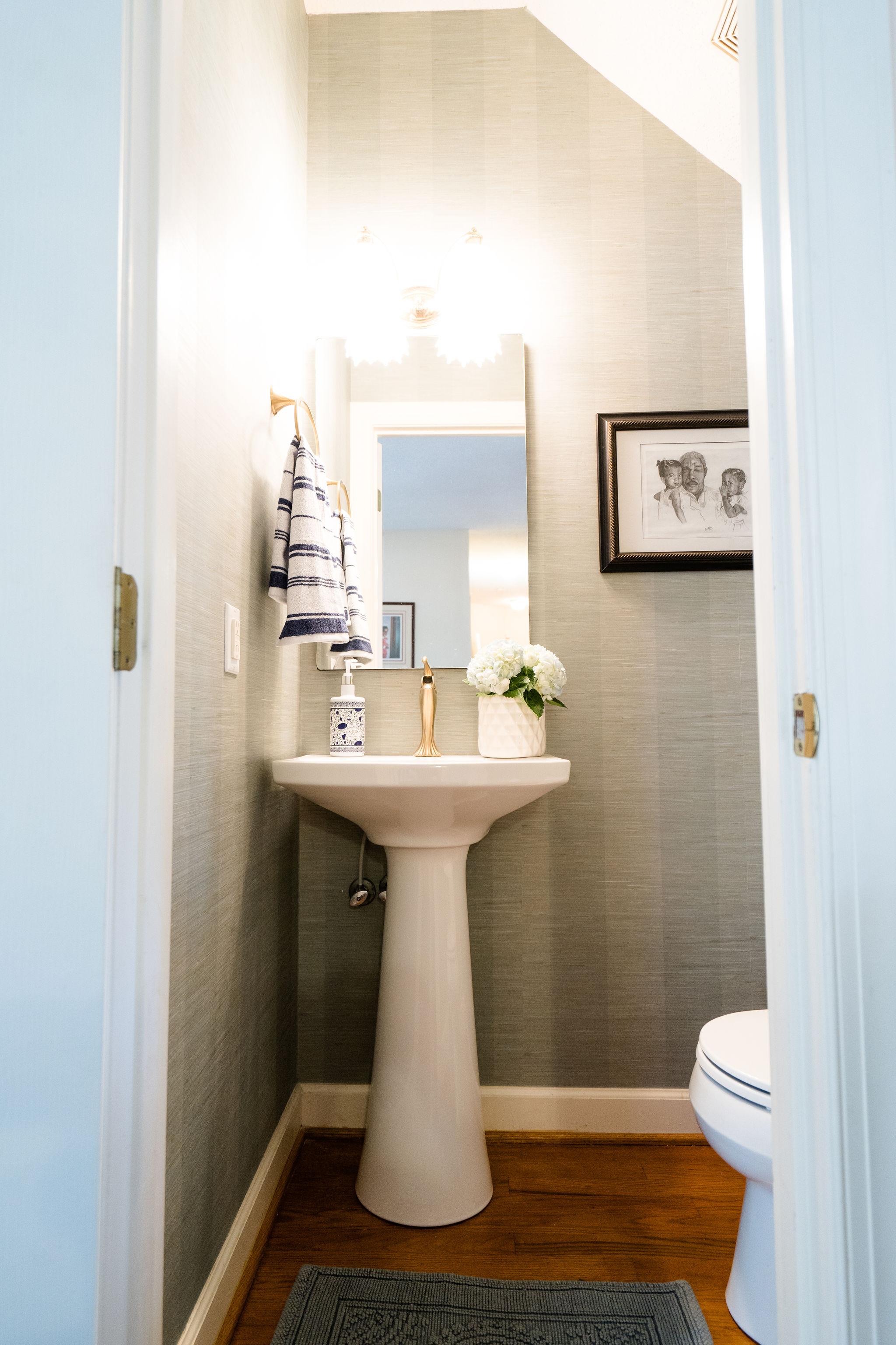 Niki McNeill Raleigh NC Interior Designer SingleBubblePop Design Studio Bathroom Renovation Remodel Refresh Pfister faucets25.jpg