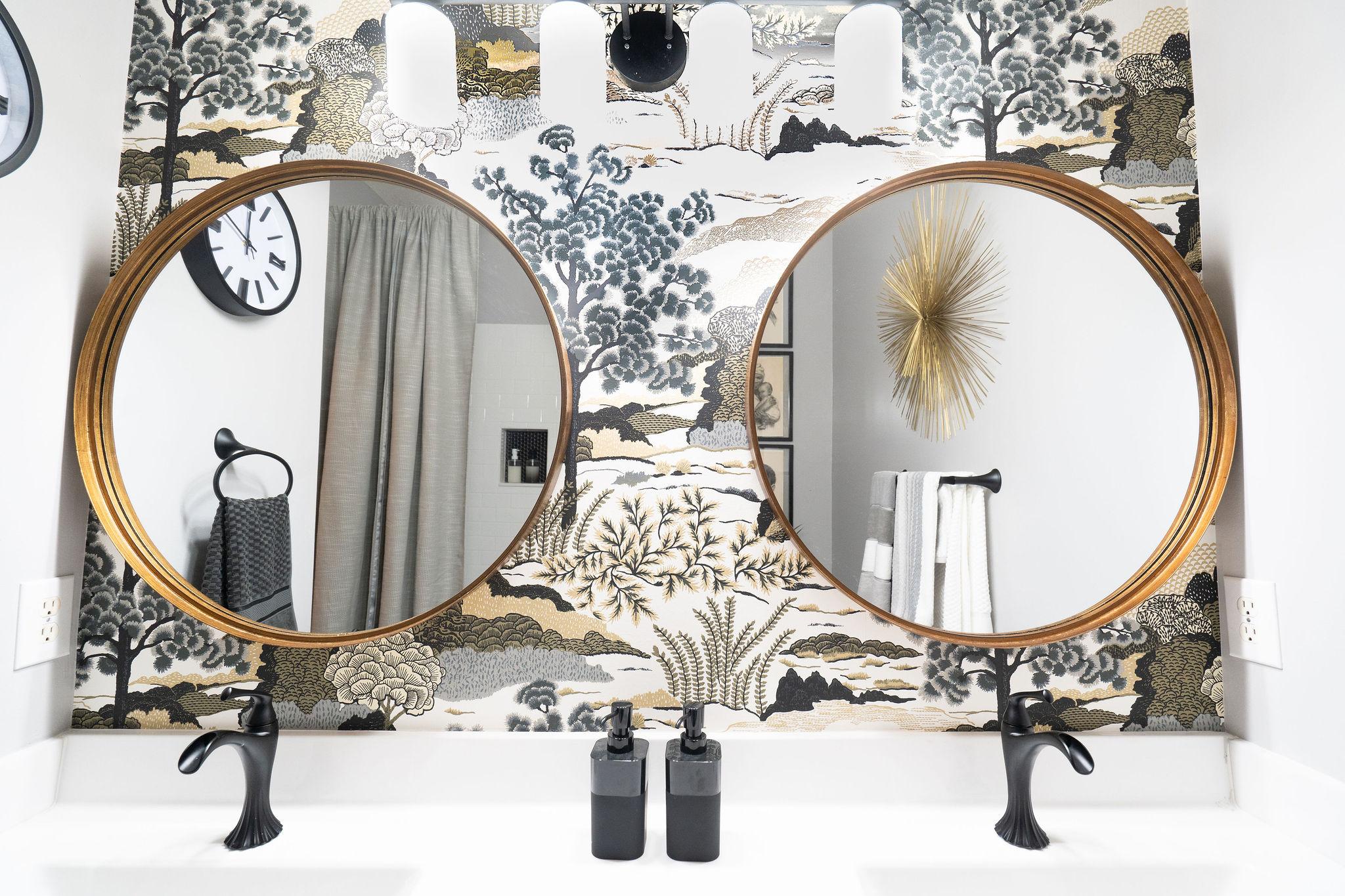 Niki McNeill Raleigh NC Interior Designer SingleBubblePop Design Studio Bathroom Renovation Remodel Refresh Pfister faucets26.jpg