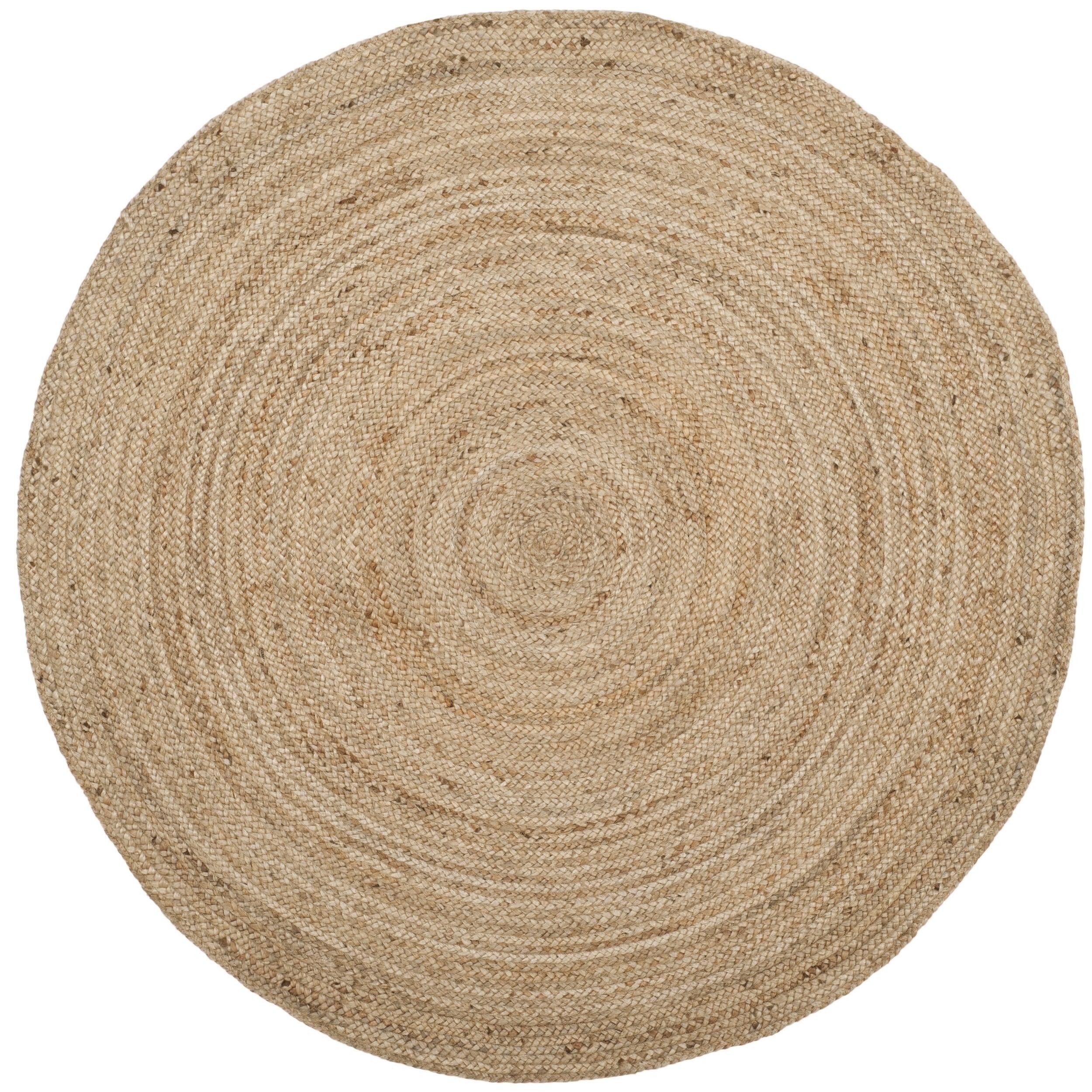 8' round safavieh jute rug