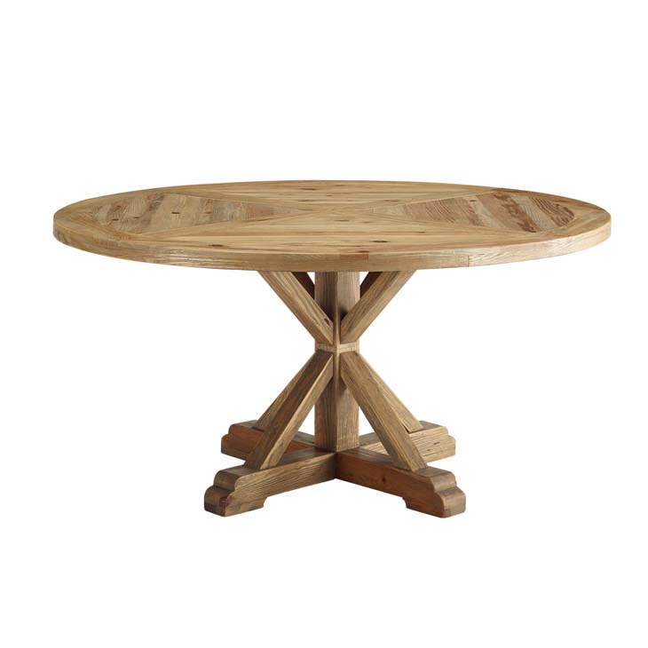"""Modway 59"""" round pine table"""