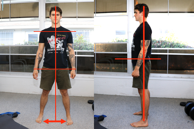 Pre-squat upright posture. The perfect squat by The Health Alchemist