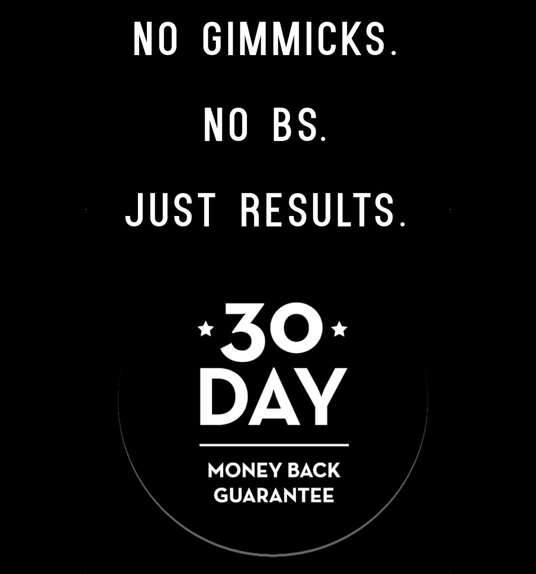 30 Day Money Back Guarantee - Health Alchemist Training