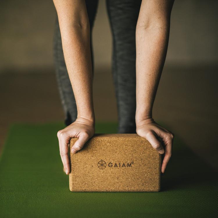 Gaiam Cork Yoga Brick - Health Alchemist Training Shop
