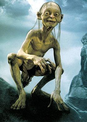 Ça c'est une vilaine flexion lombaire Gollum. Pas étonnant que tu sois si grognon : t'as mal au dos !