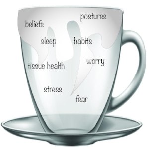 The overflowing cup: Build it up or decrease its contents aka: Calm shit down and build shit back up
