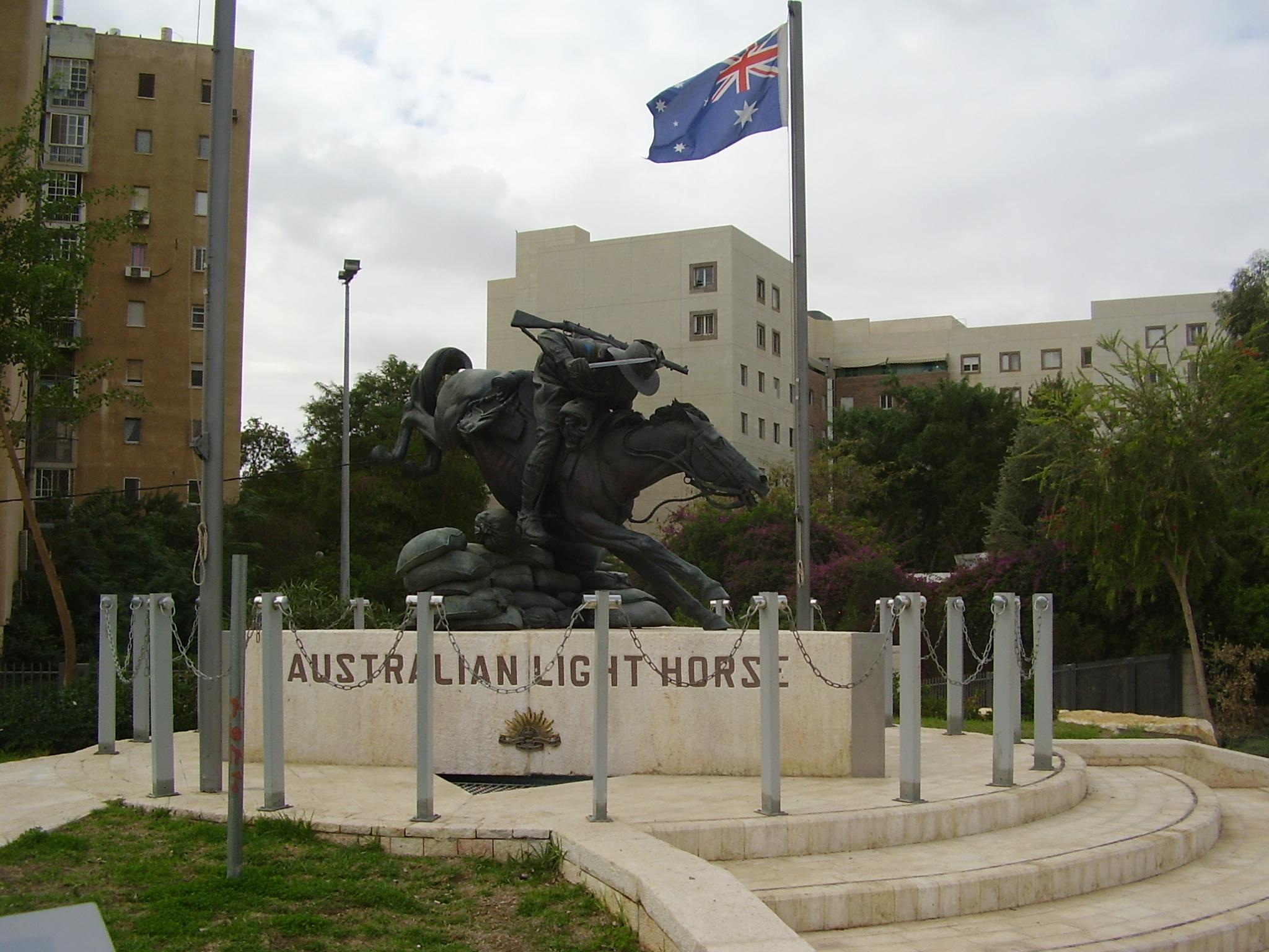 Australian Light Horse memorial at Beersheba.