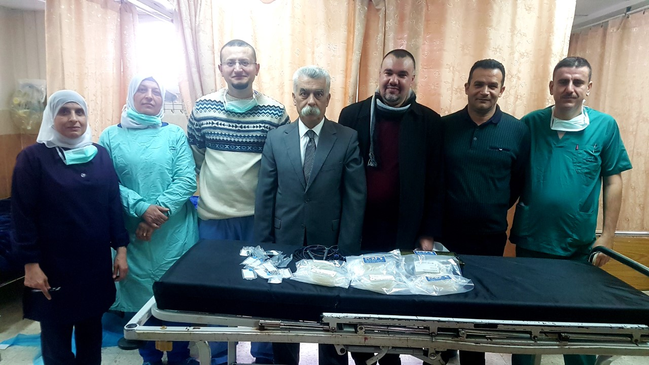 """""""Thank you Australia!"""" - the brand new phaco probes have been received by the medical team at Rafidia Hospital, Nablus. [Photo: PCRF]"""