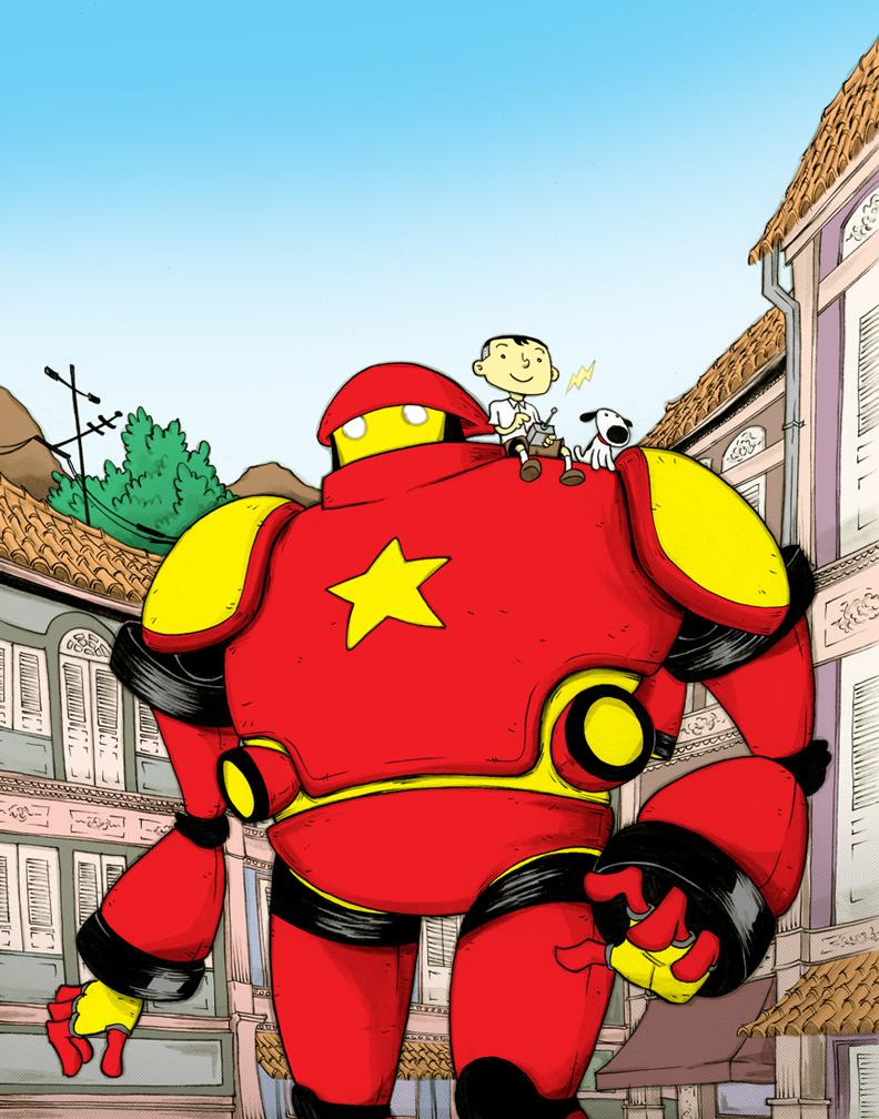 Ah Huat and Robot
