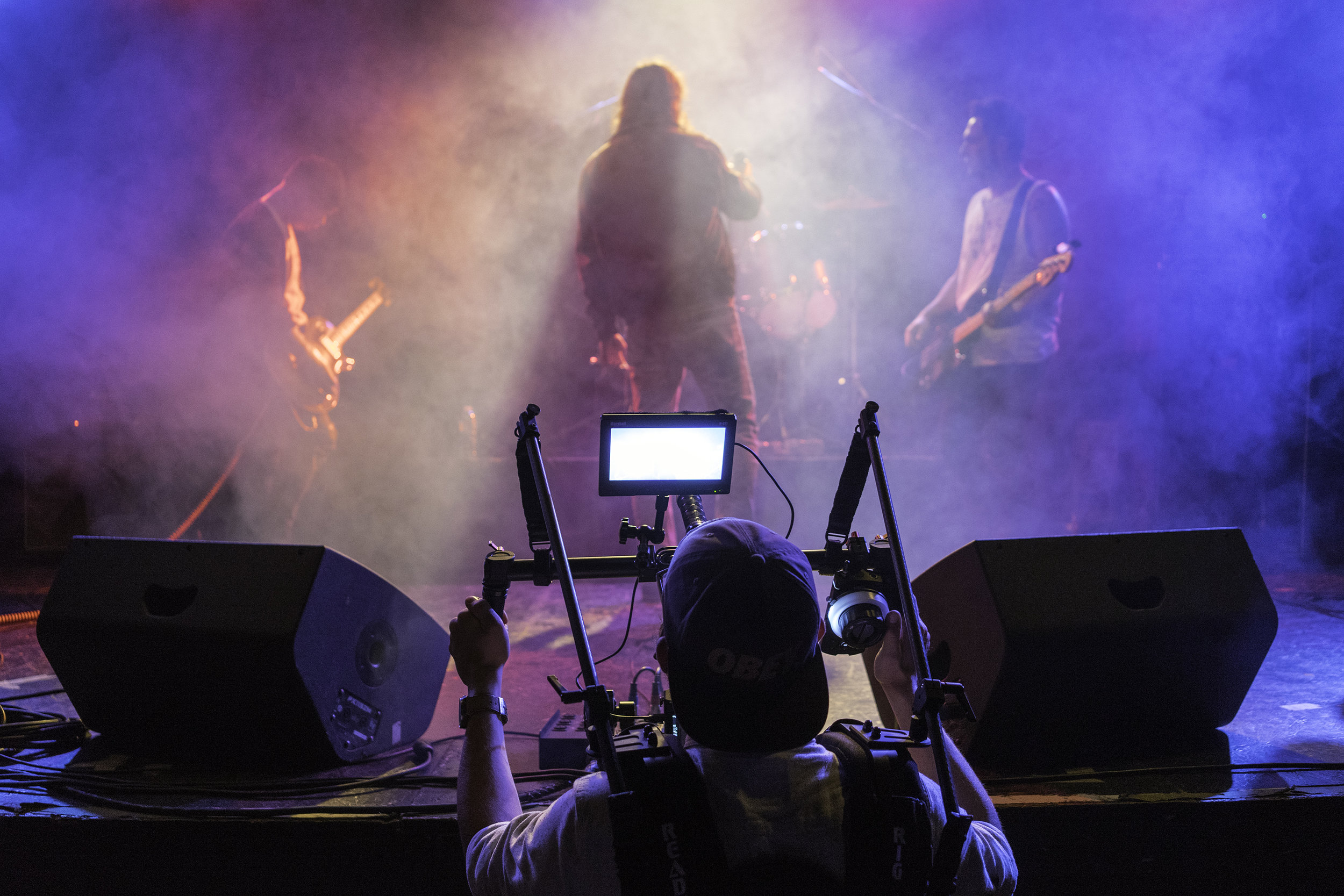 Gimbal Duty at The Phoenix Theater. Photo by Eric Molyneaux.
