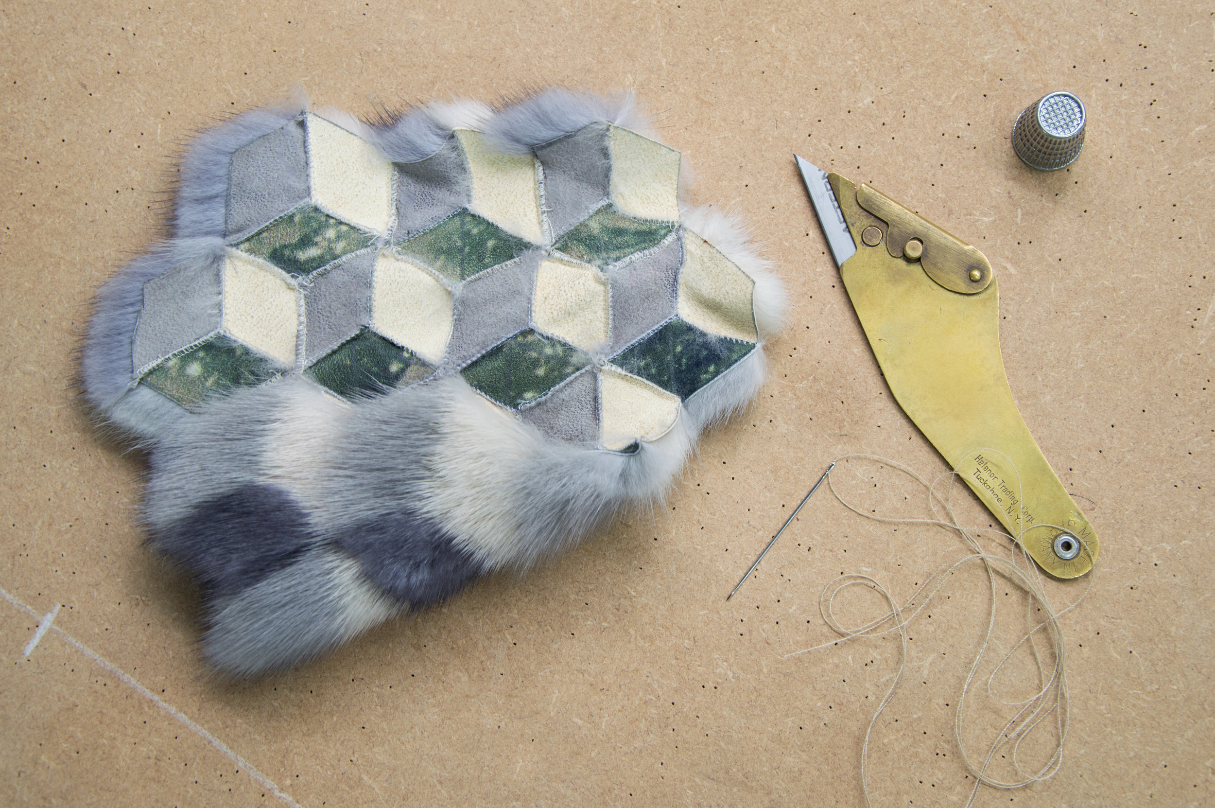 We can create samples to fit your designs, which we can then progress into fully finished fur pieces