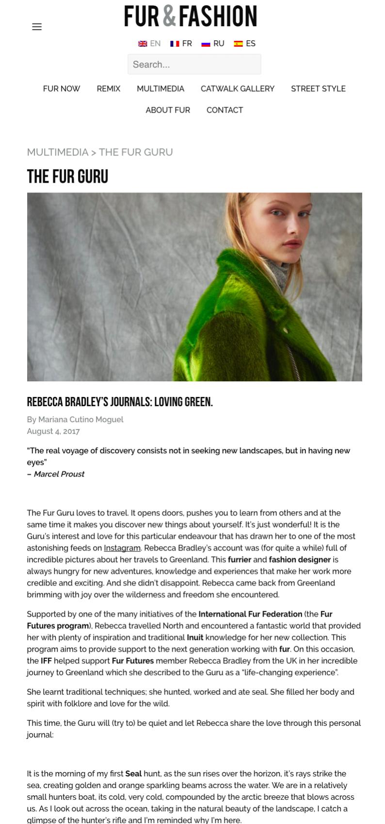 To read the full article: https://www.wearefur.com/rebecca-bradleys-journals/