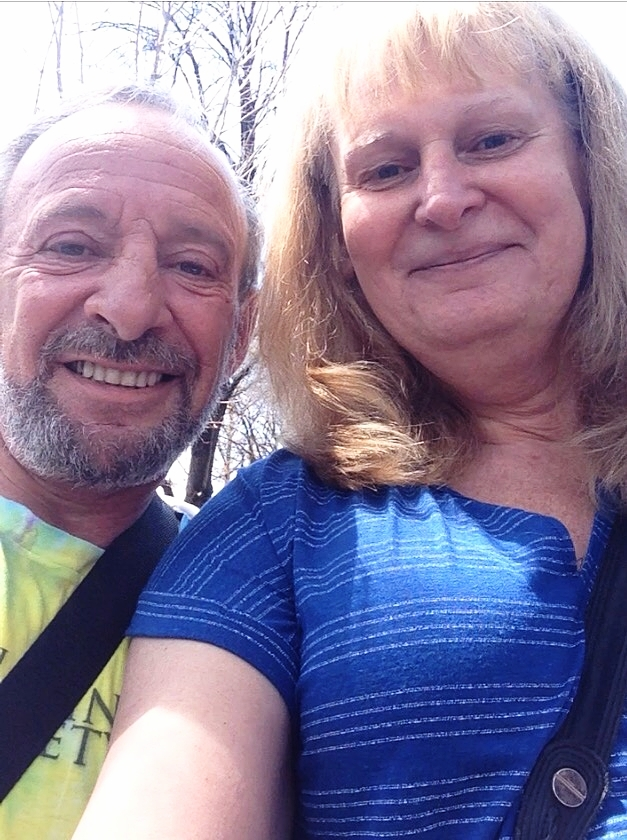 Sam Mellace and Sandra Petite at the Global Cannabis March, 2016