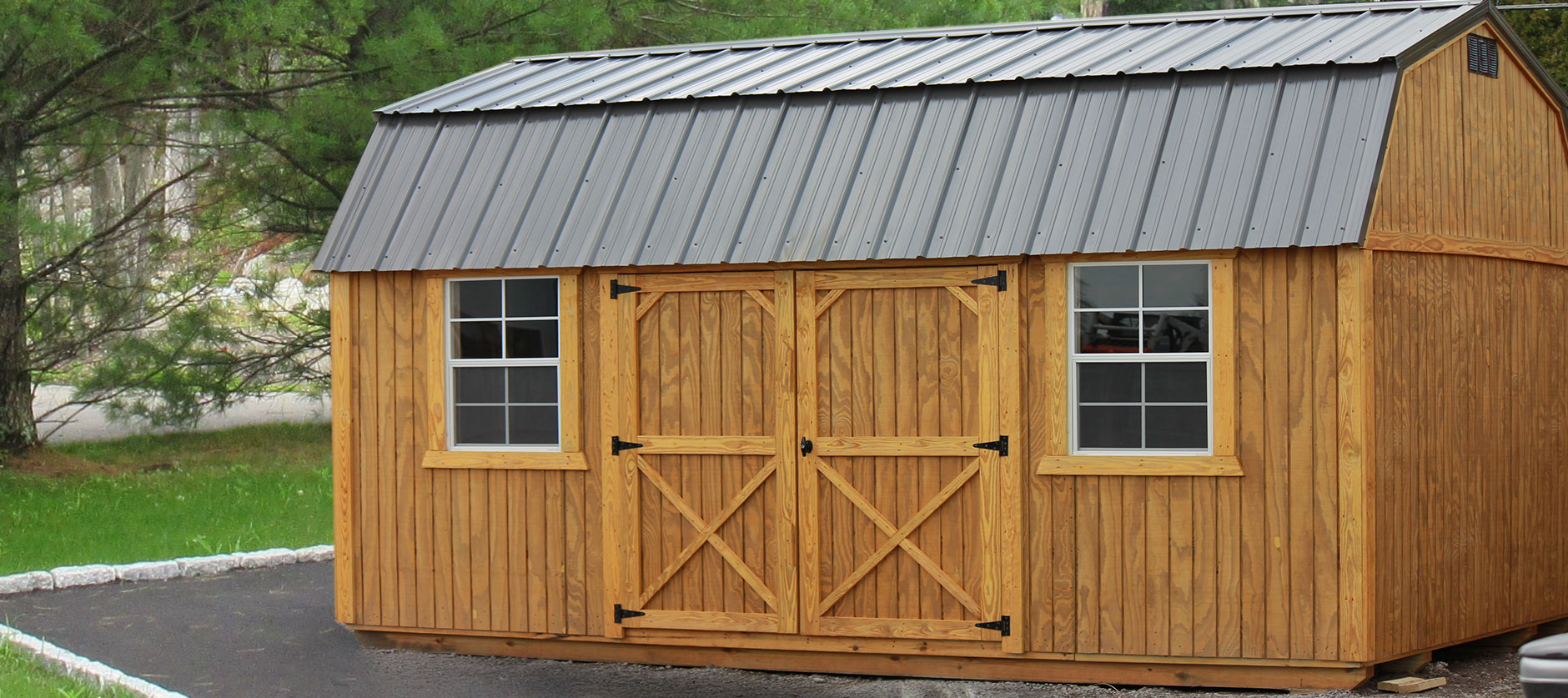 DO YOUR GARAGE A FAVOR   Get a Portable Building   See our customer gallery