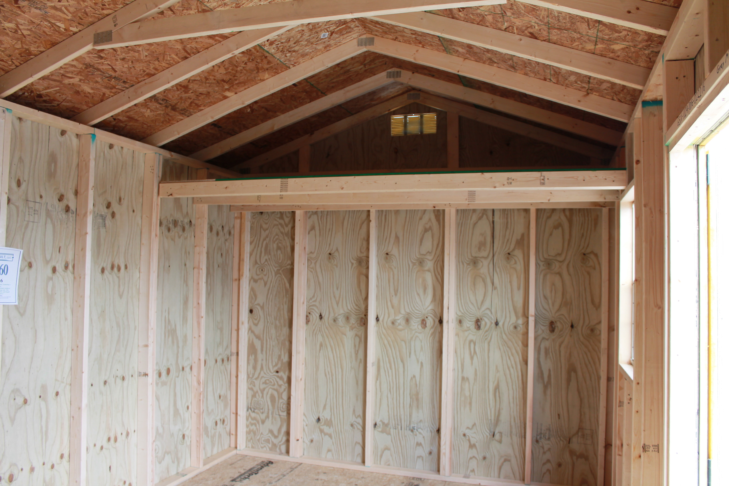 loft in pressure treated garden shed. loft is part of the additional height option..JPG