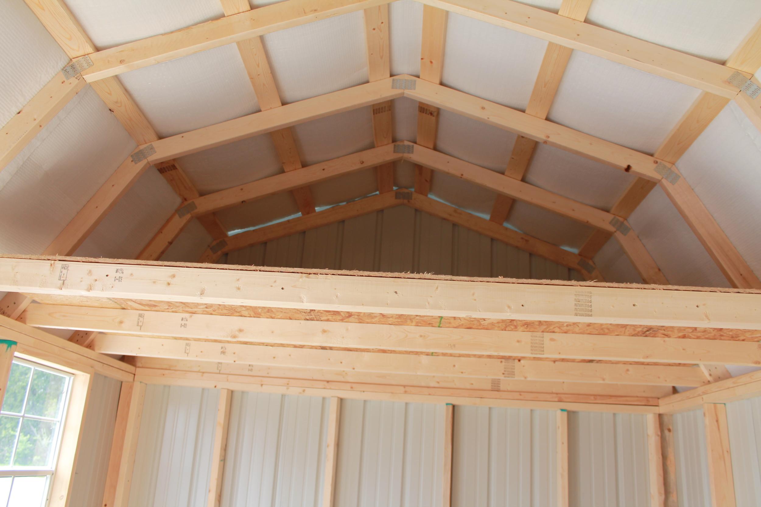 spacious loft in metal side lofted barn.JPG