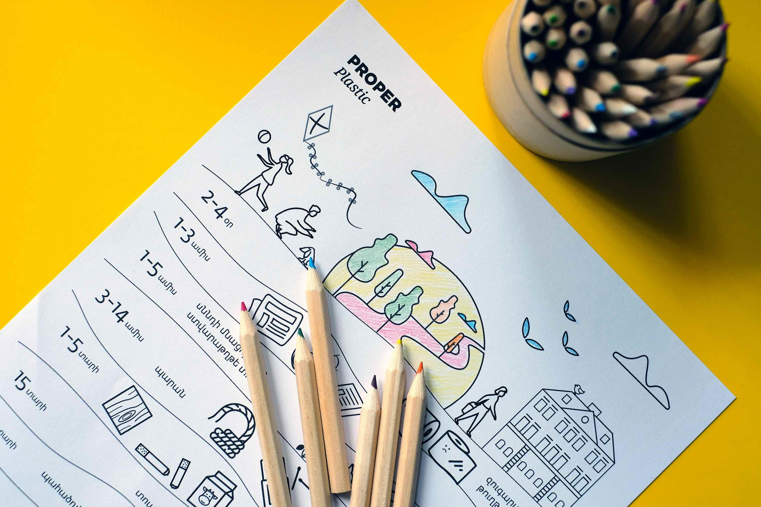 Proper Plastic coloring activity for children