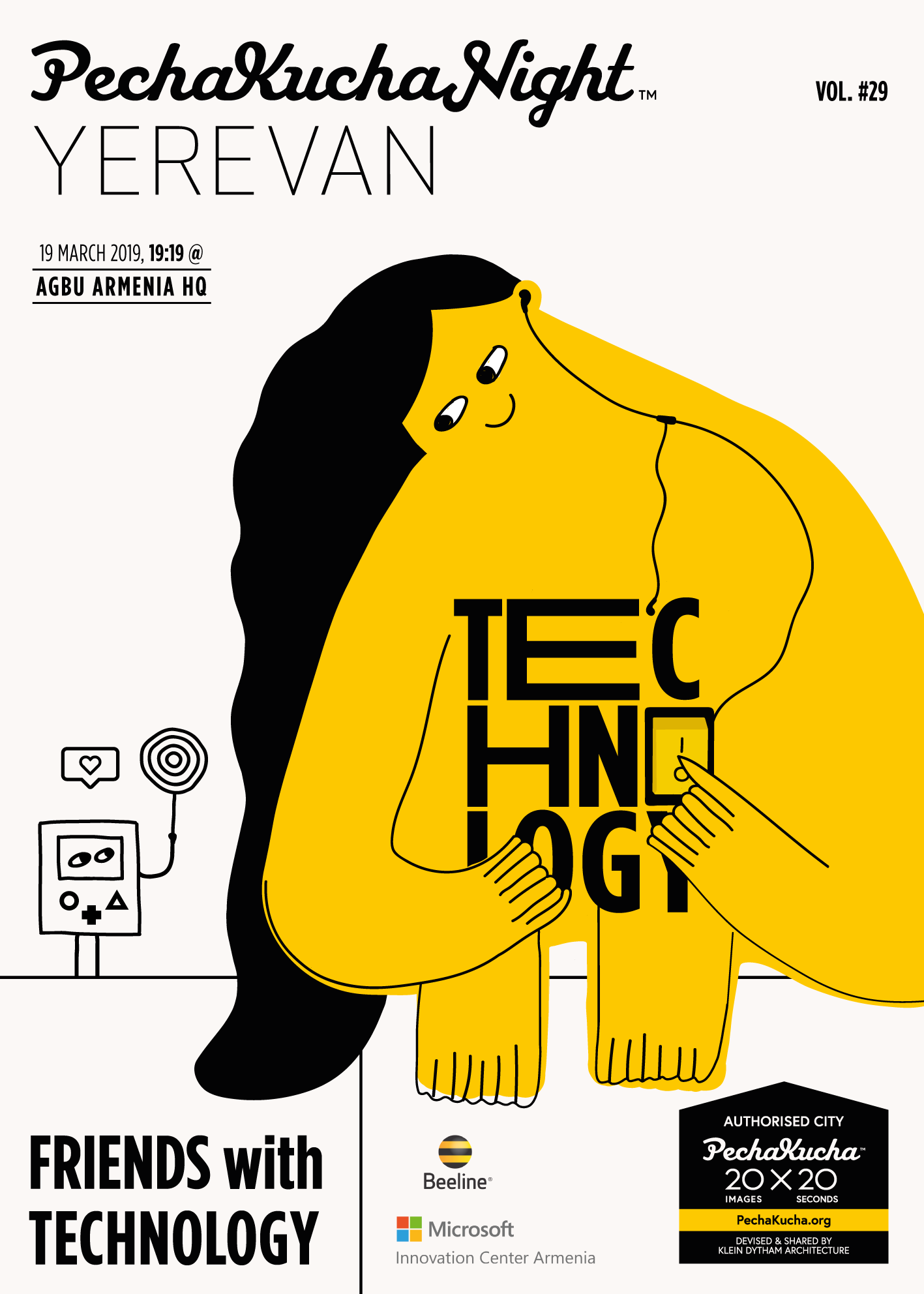 Vol. 29 - Friends with Technology - Explore how new technologies shape modern education, the relationships among disability, society and technology, and more! Poster by Hasmik Abelyan / Proper